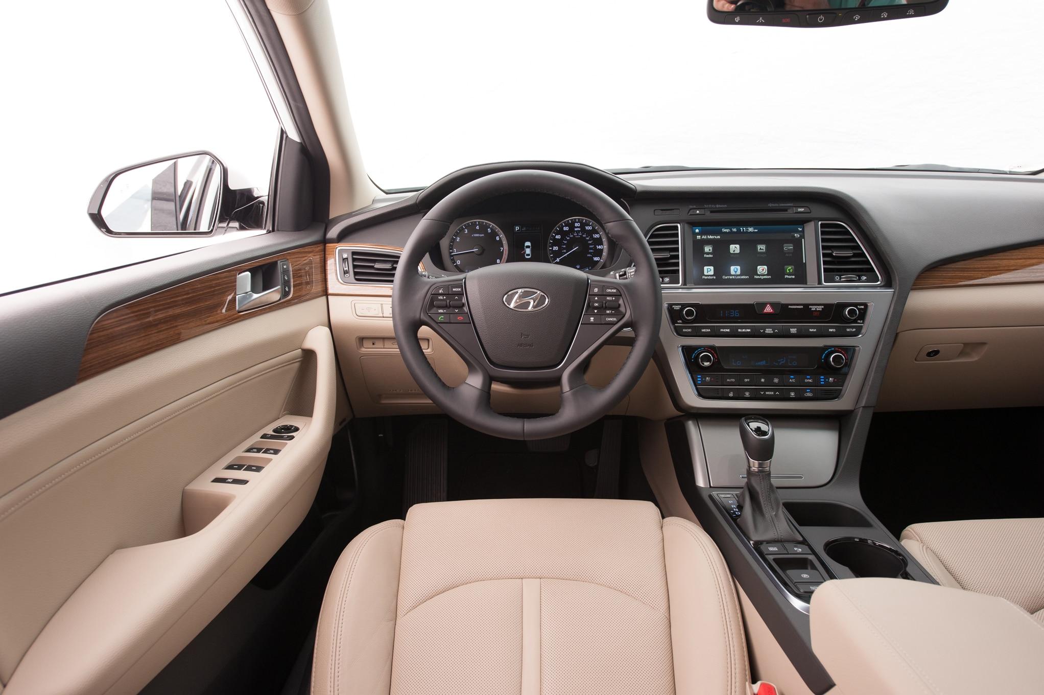 Hyundai sonata limited 2 4 2015 primera prueba - 2015 hyundai sonata interior pictures ...