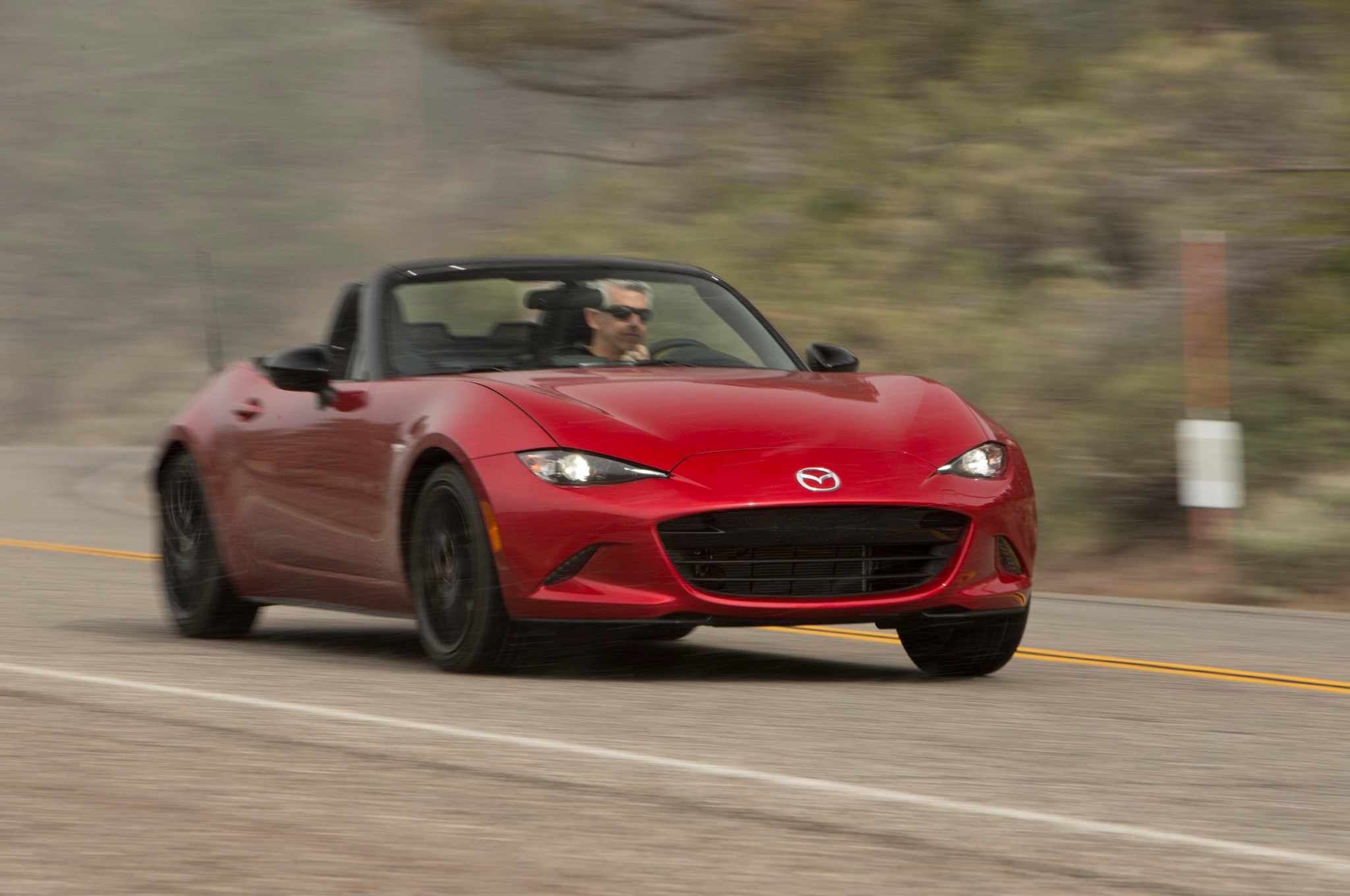 2016 Mazda MX 5 Miata Front Three Quarter In Motion 02