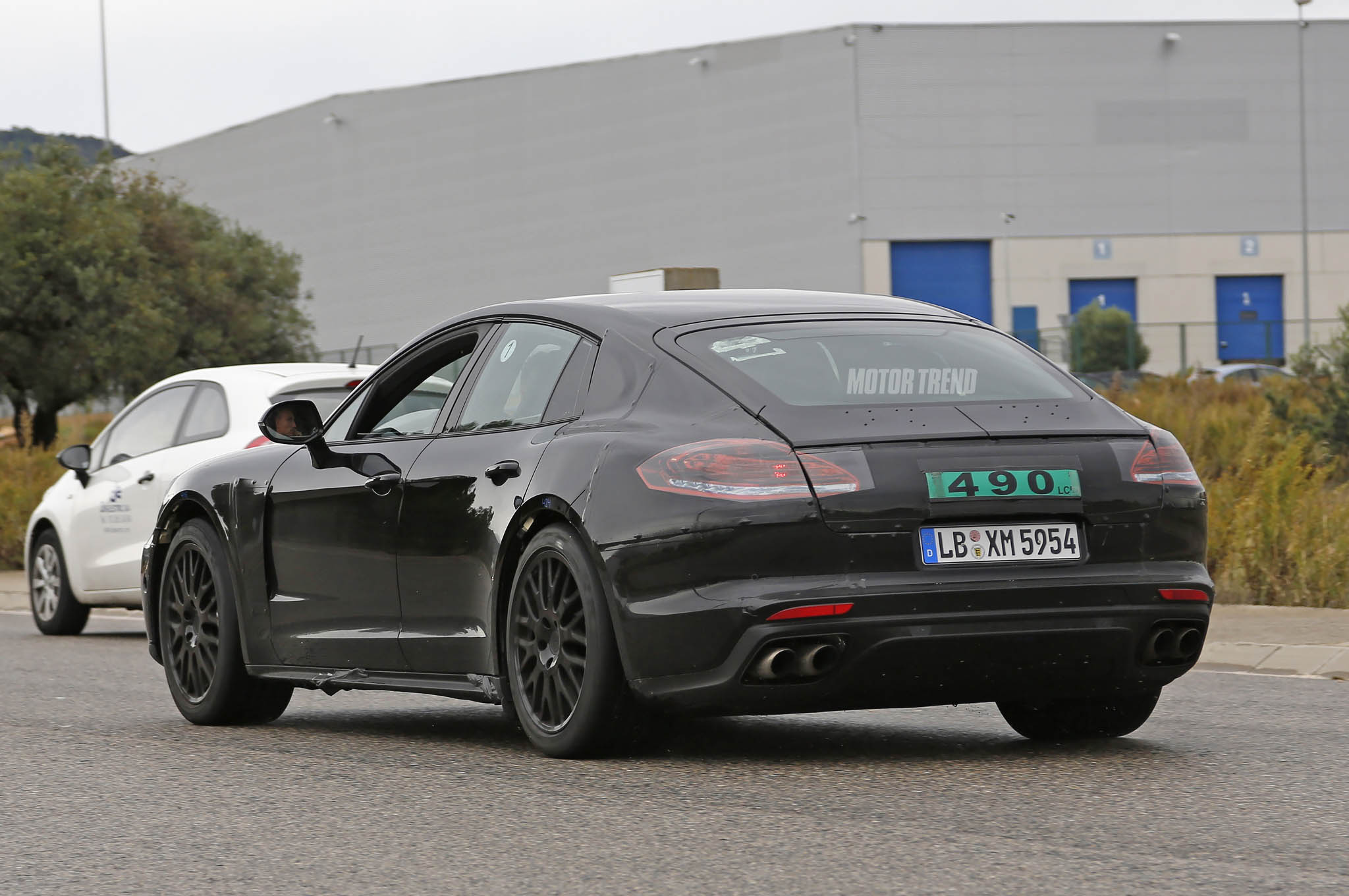 Next Gen Porsche Panamera Rear View