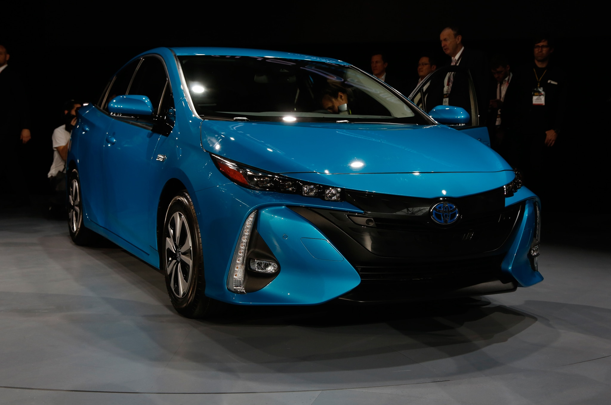 2017 Toyota Prius Prime Side Front View On Show Floor