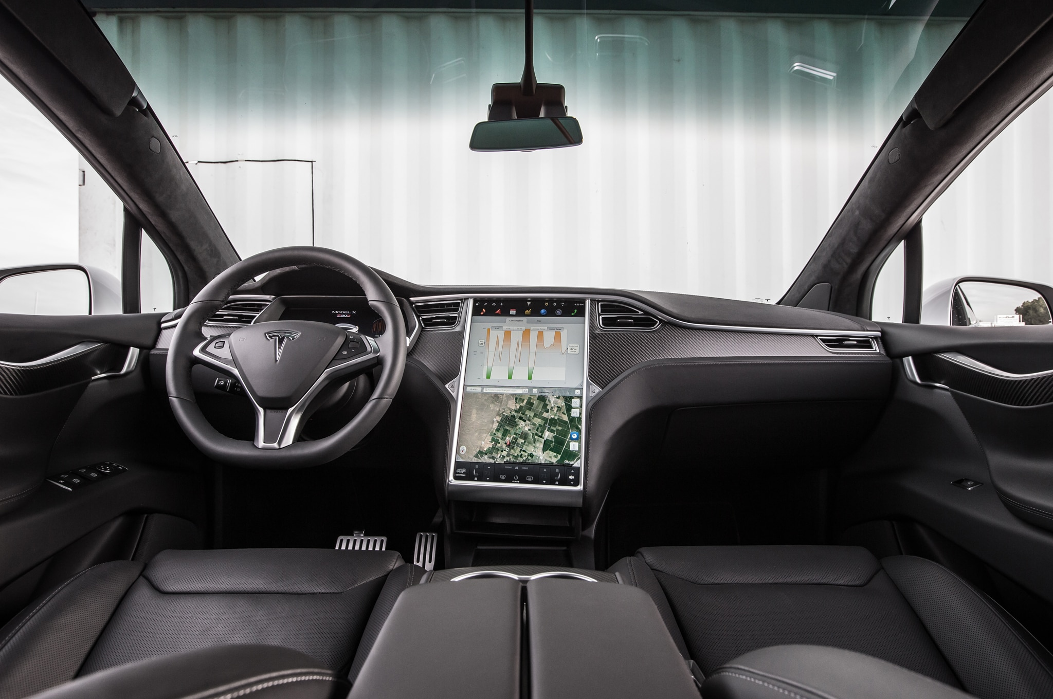 Tesla model x p90d ludicrous 2016 primera prueba for Interior model