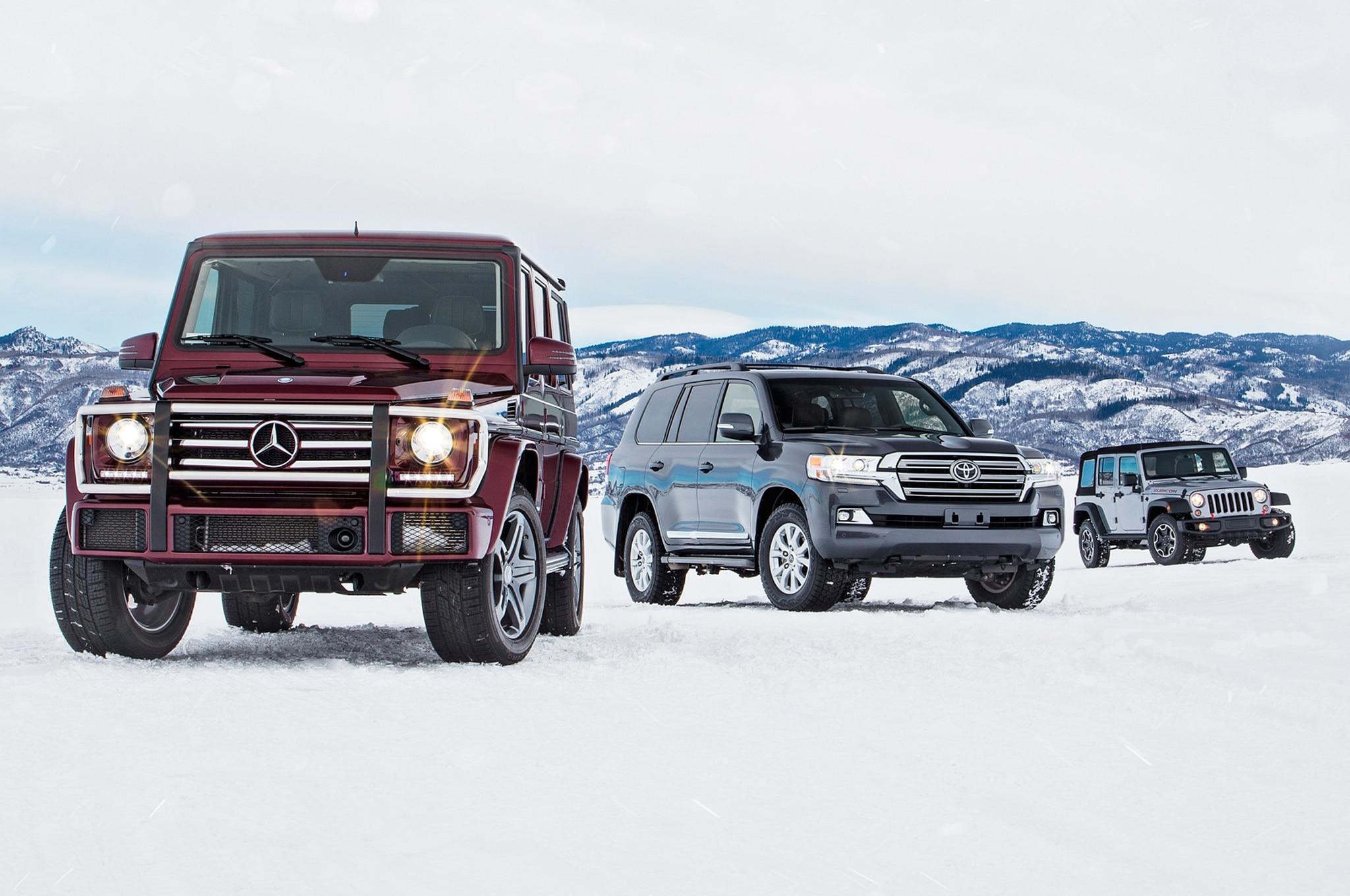 2016 Jeep Wrangler Unlimited Rubicon Vs Mercedes Benz G550 Vs Toyota Land Cruiser Homepage 02