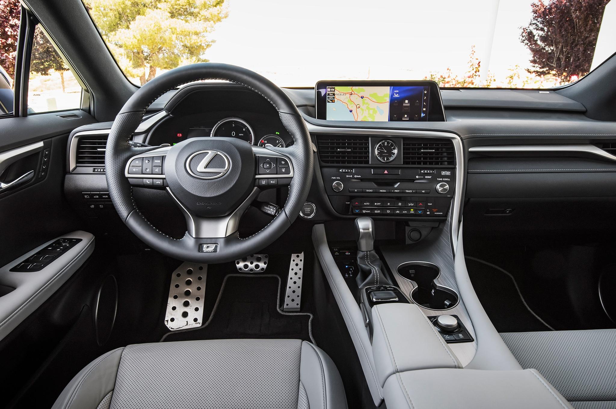 2016 lexus rx 350 f sport interior view motor trend en espa ol. Black Bedroom Furniture Sets. Home Design Ideas