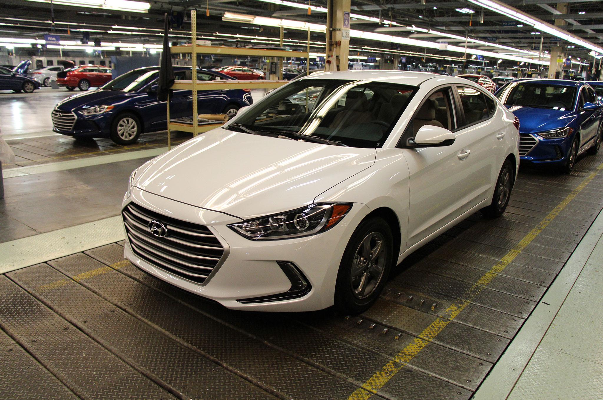 Hyundai Motor Manufacturing Alabama Elantra Eco Rolling Off Line