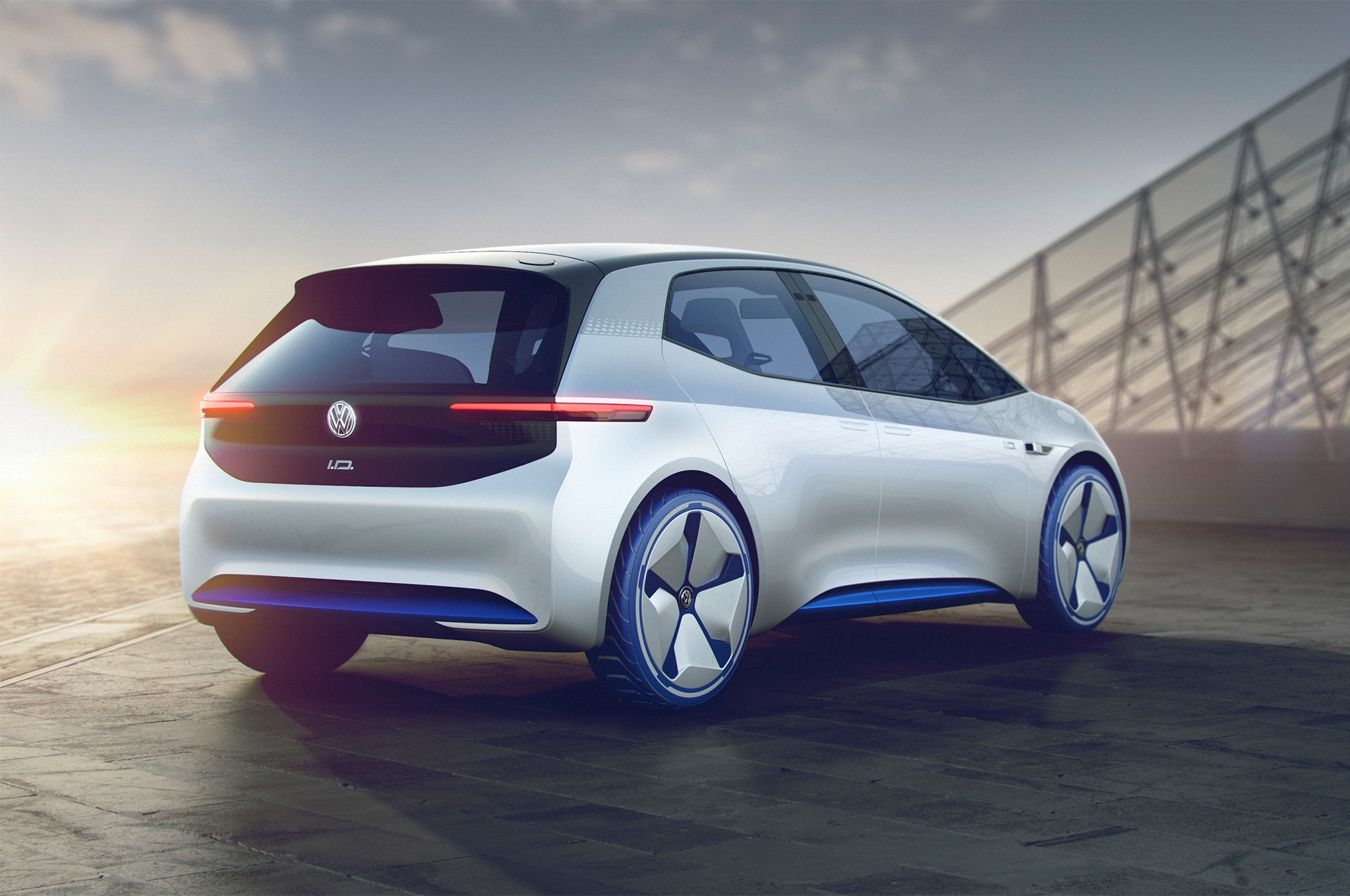 Volkswagen I D Concept Rear Three Quarter 02
