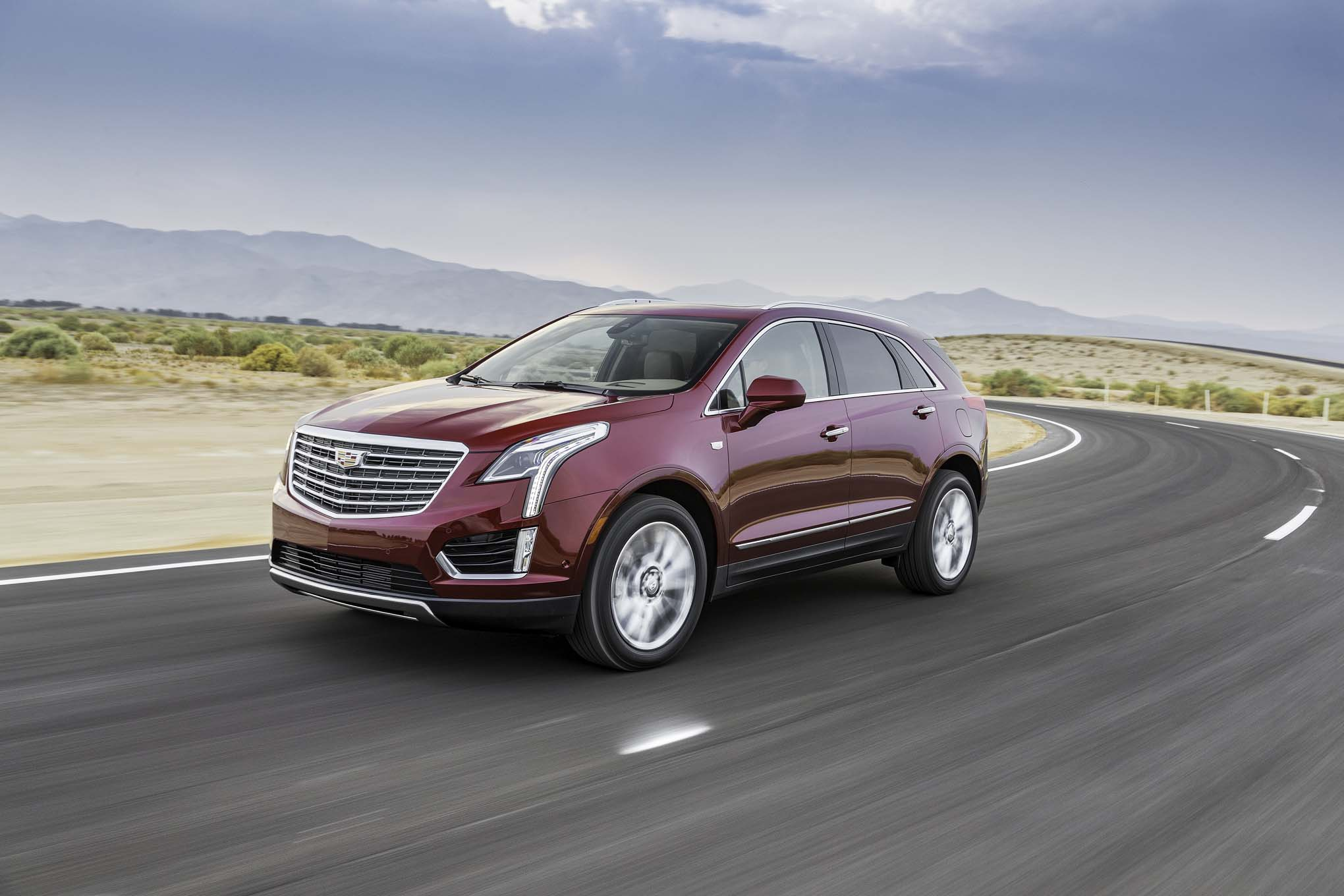 2017 Cadillac XT5 AWD Front Three Quarter In Motion