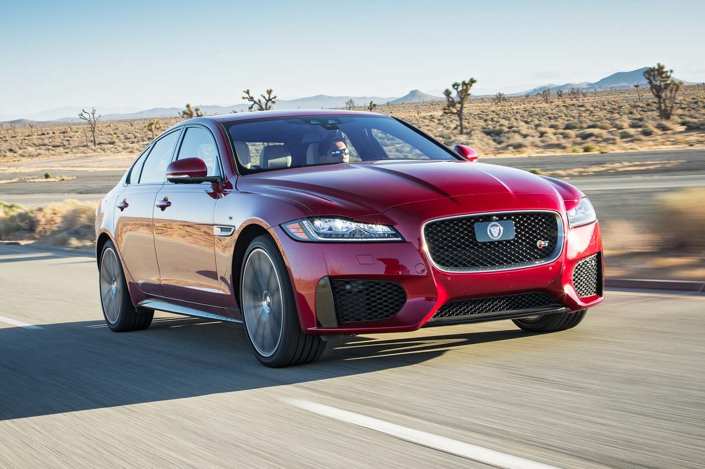 2017 Jaguar XF S AWD Front Three Quarter In Motion E1477930448860