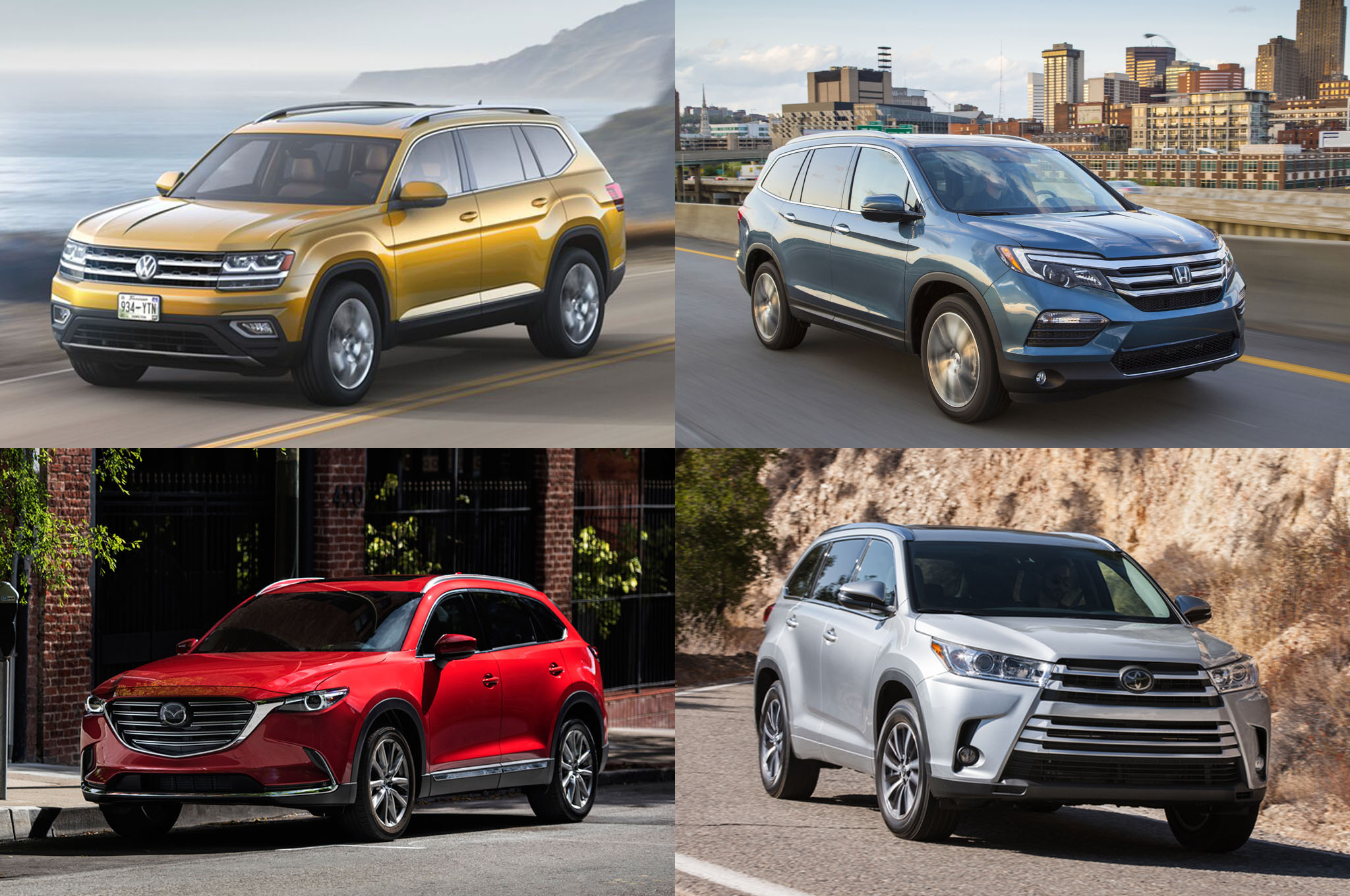 Volkswagen Atlas 2018 Vs Sus Competidores Motor Trend En Espa 241 Ol