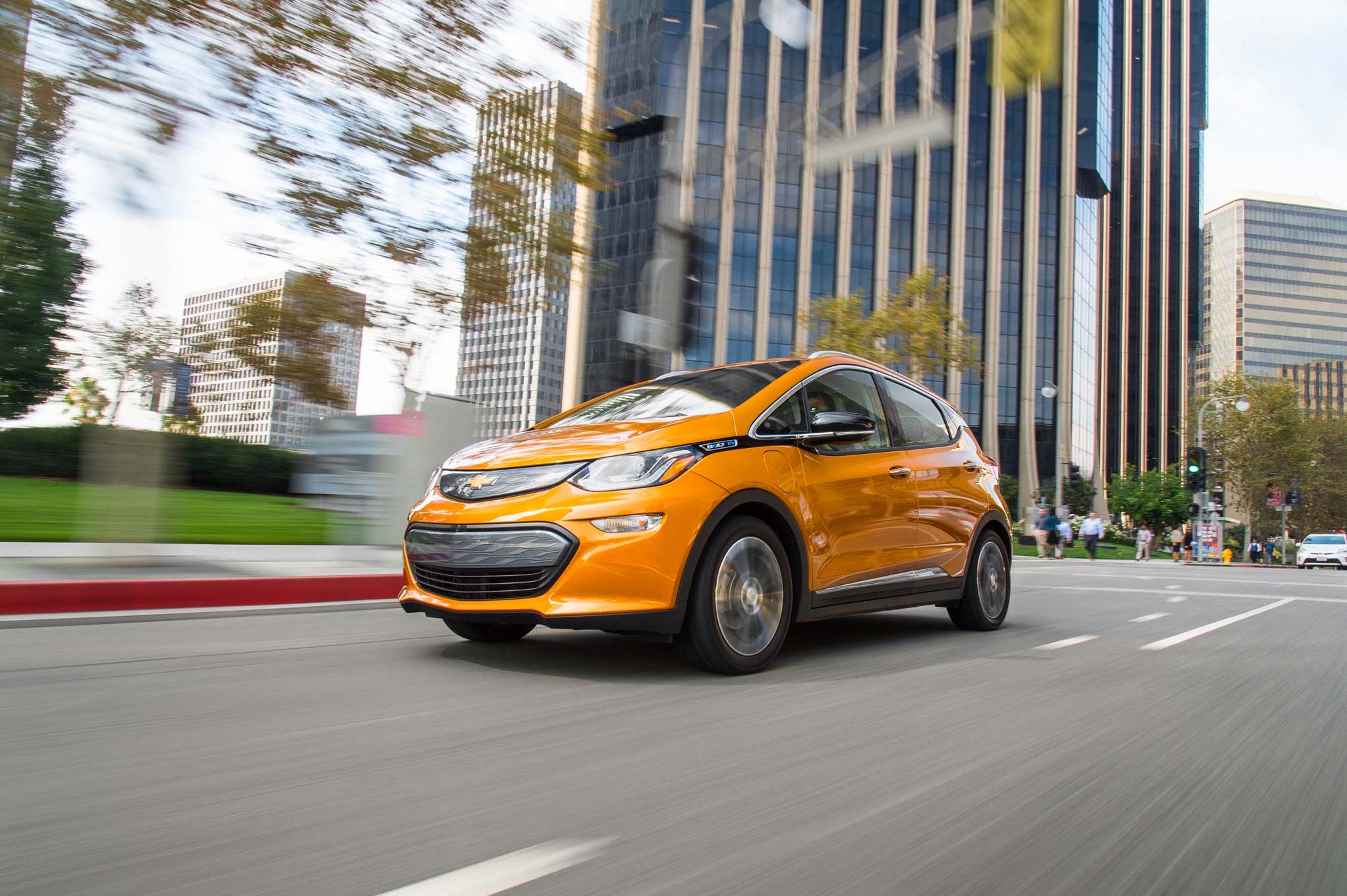 2017 Chevrolet Bolt EV Front Three Quarter In Motion