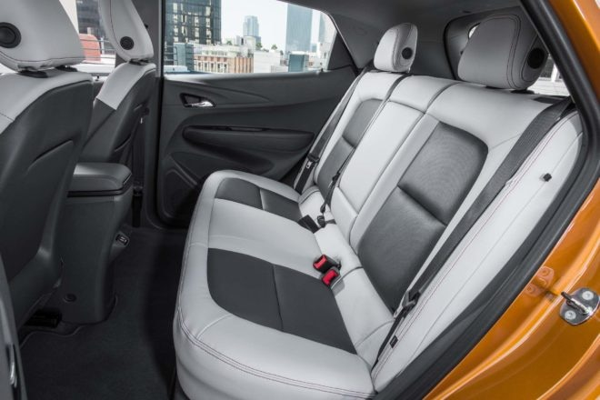 2017 Chevrolet Bolt EV rear interior seats