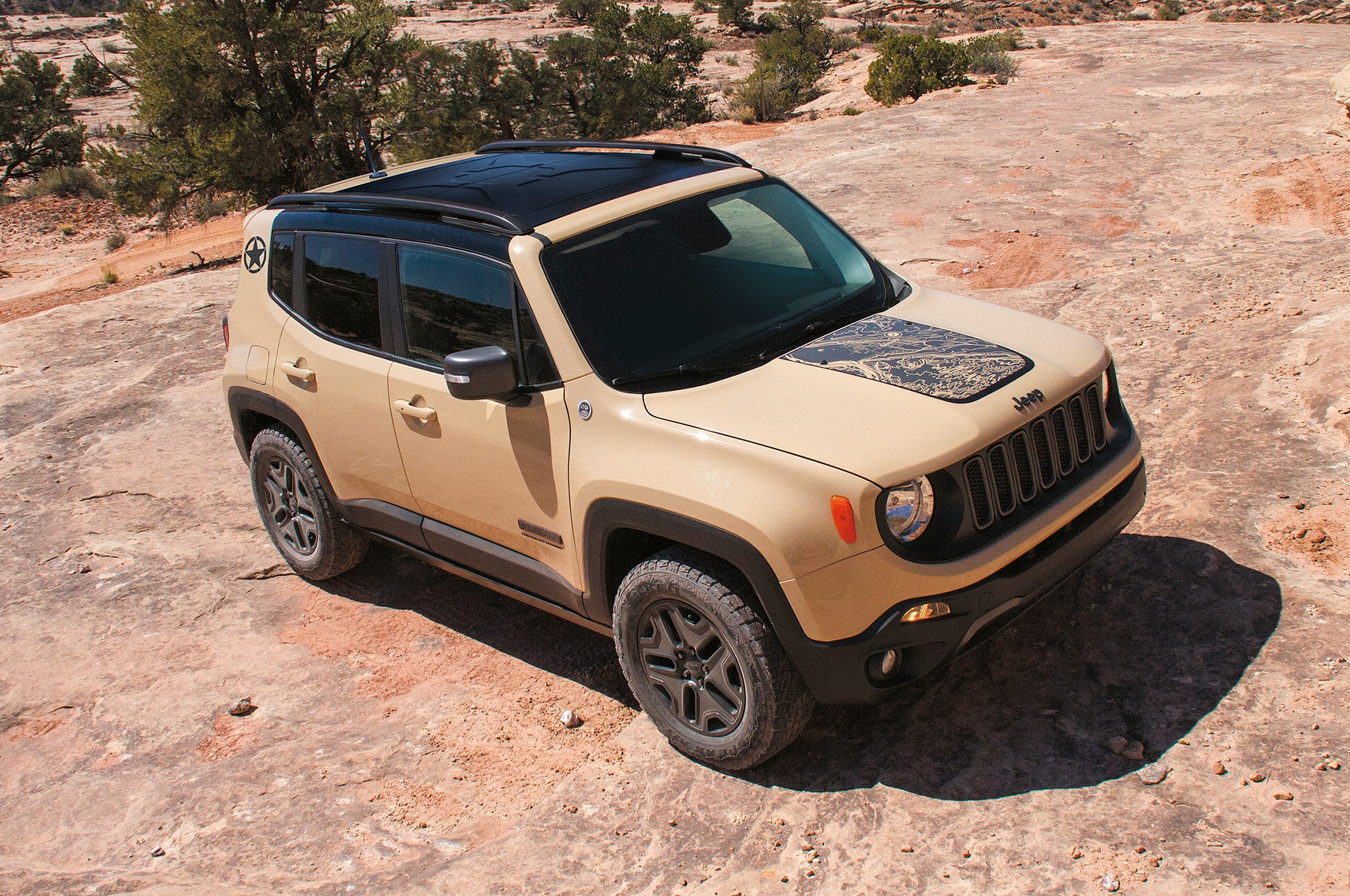 2017 Jeep Renegade Deserthawk Front Three Quarter