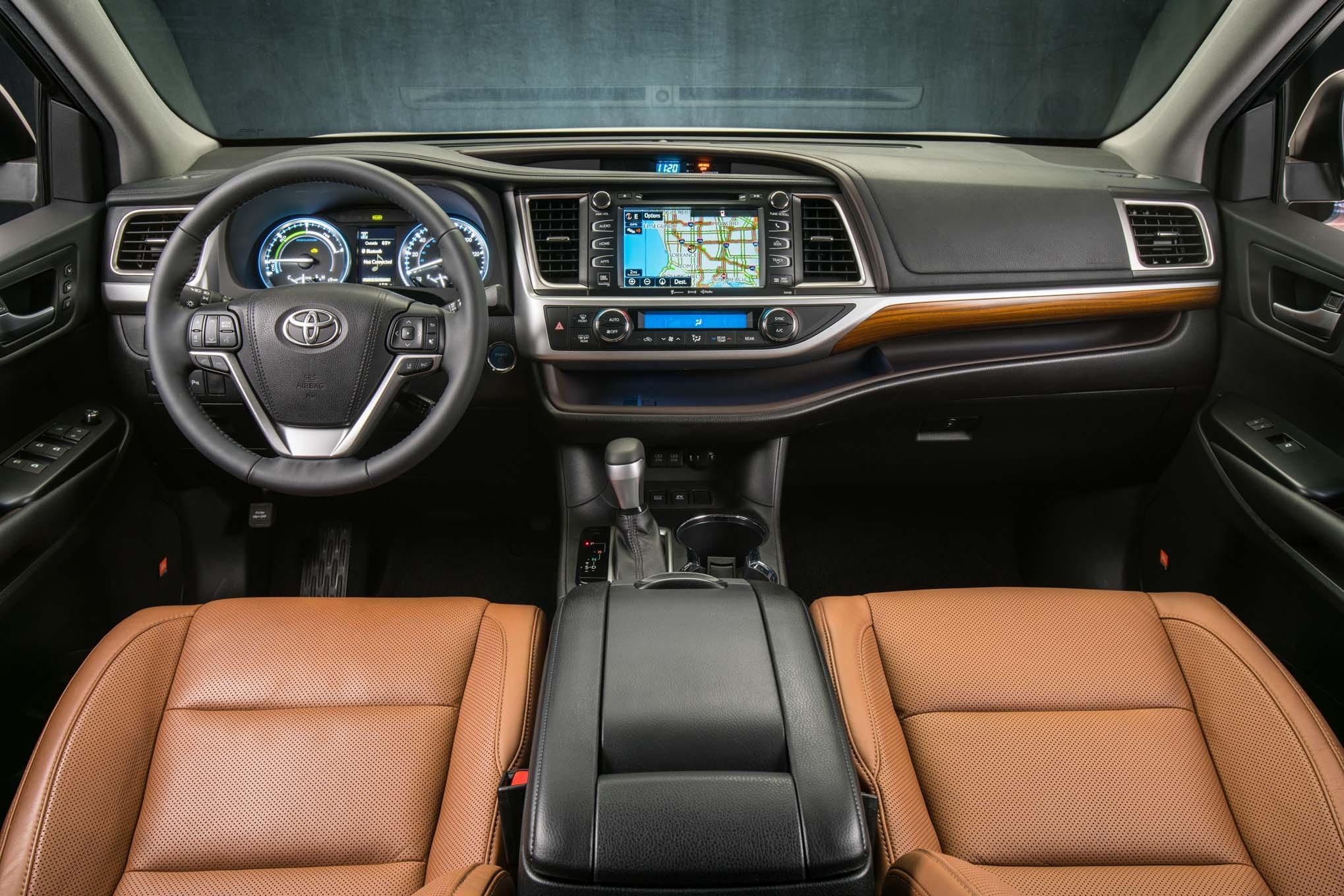 2017-Toyota-Highlander-Hybrid-Limited-Platinum-interior-35 ...