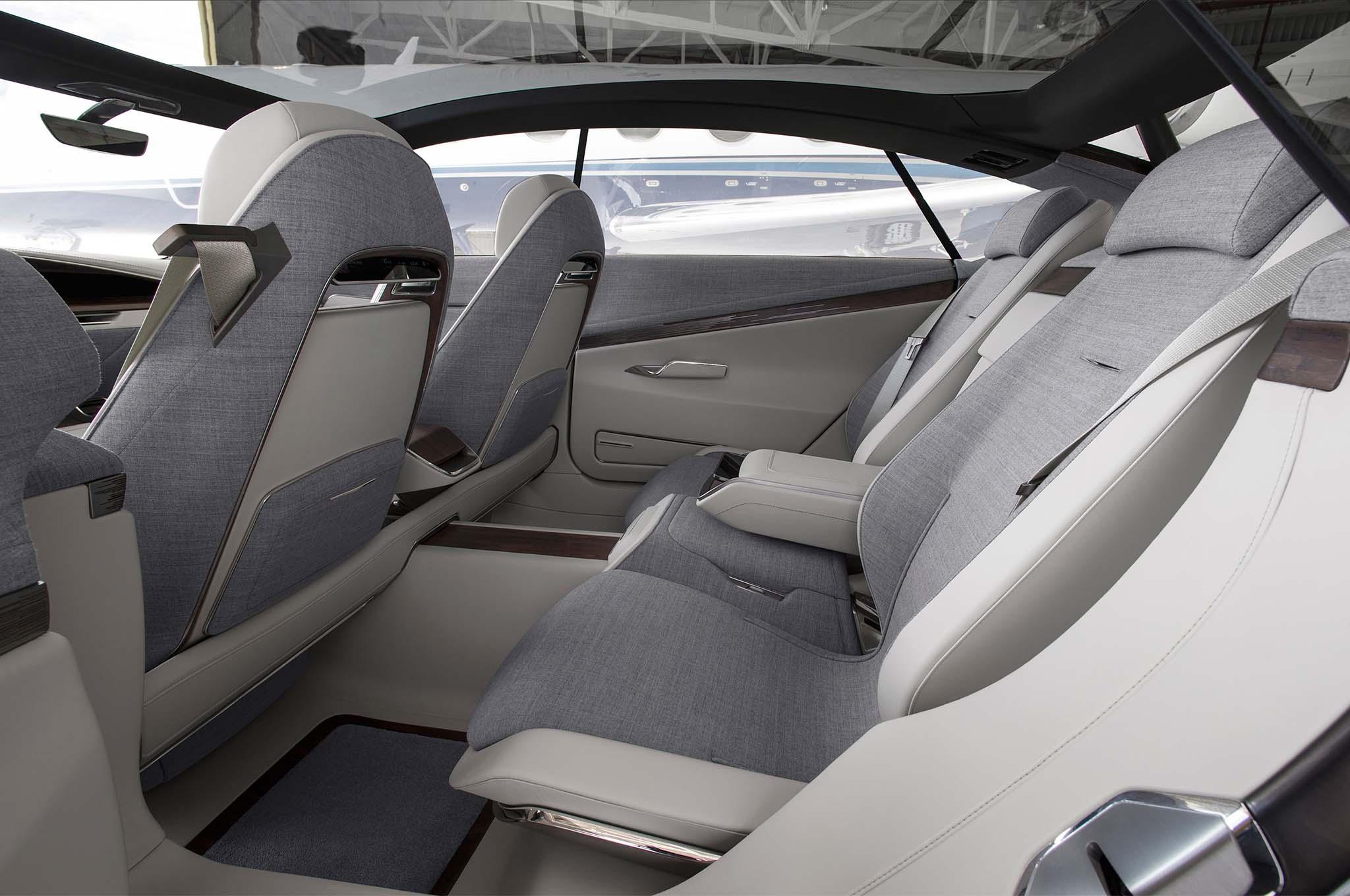 Cadillac Escala Concept rear interior seats