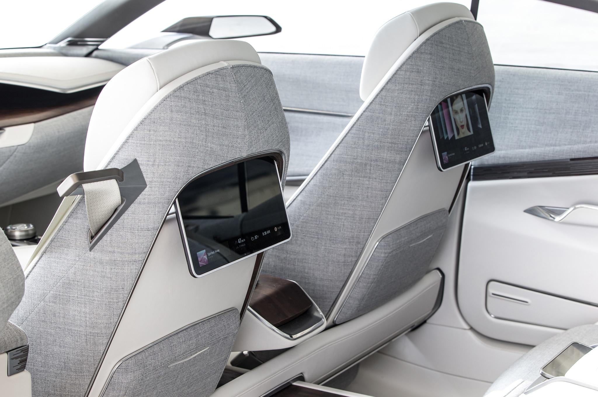 Cadillac Escala concept rear screens