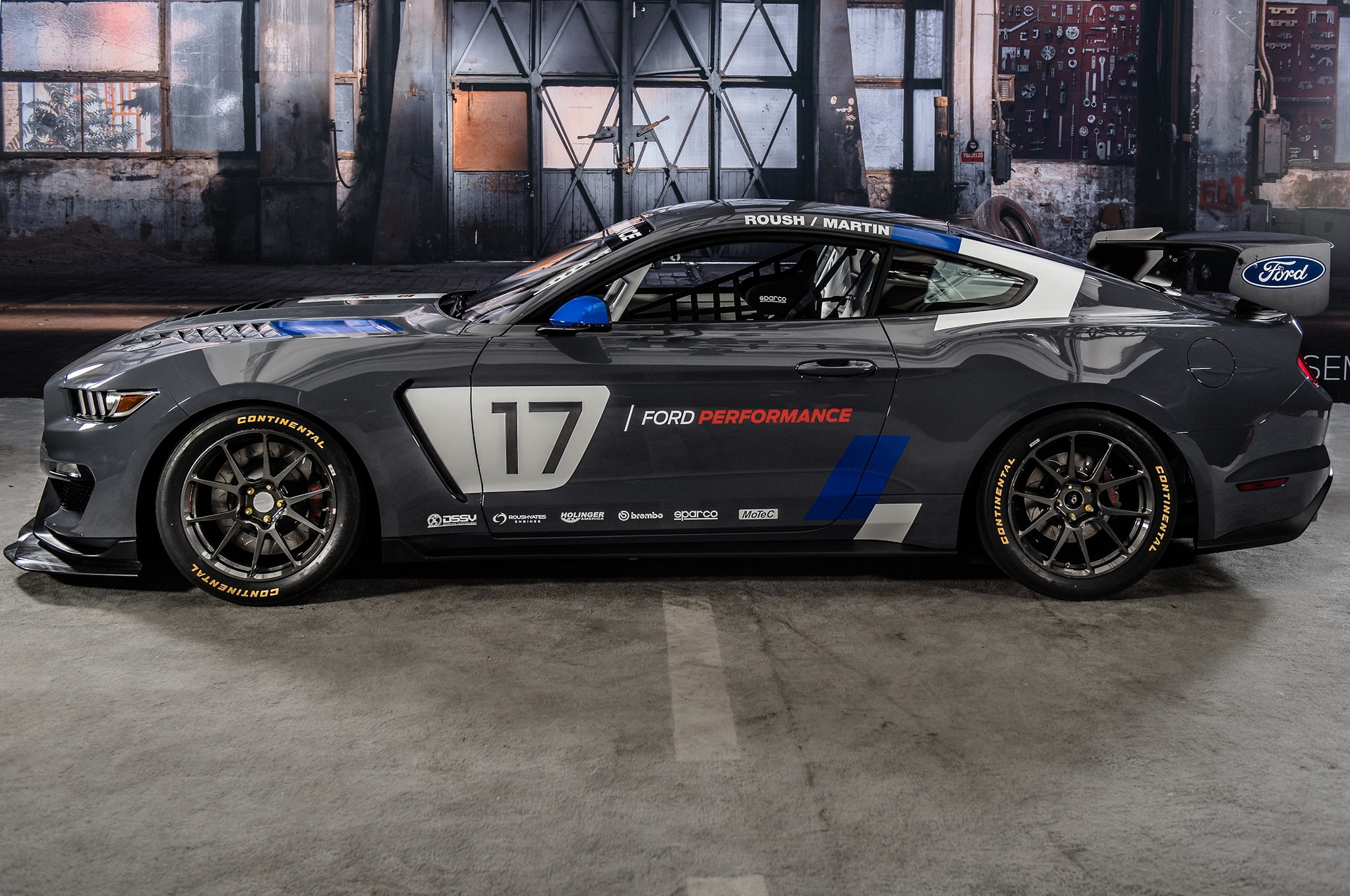 Ford Mustang GT4 Race Car Side