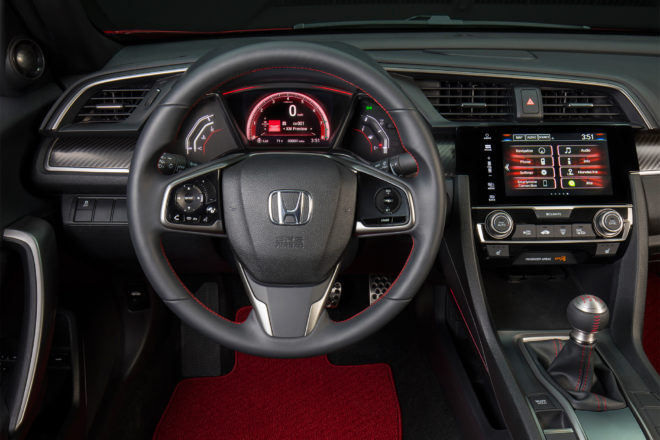 Honda Civic Si Coupe prototype dashboard close up