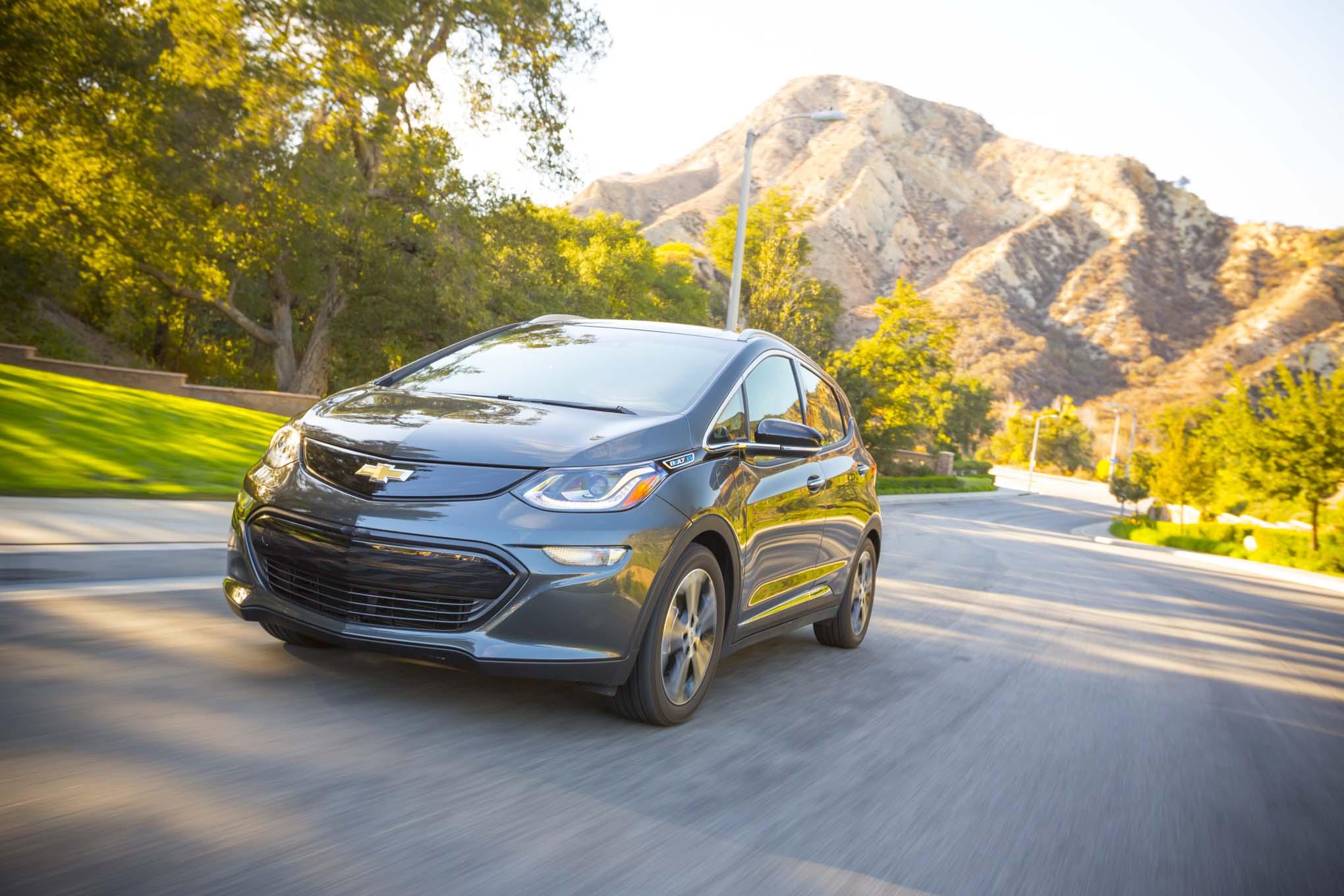 2017 Chevrolet Bolt EV Premier Front Three Quarter In Motion 63