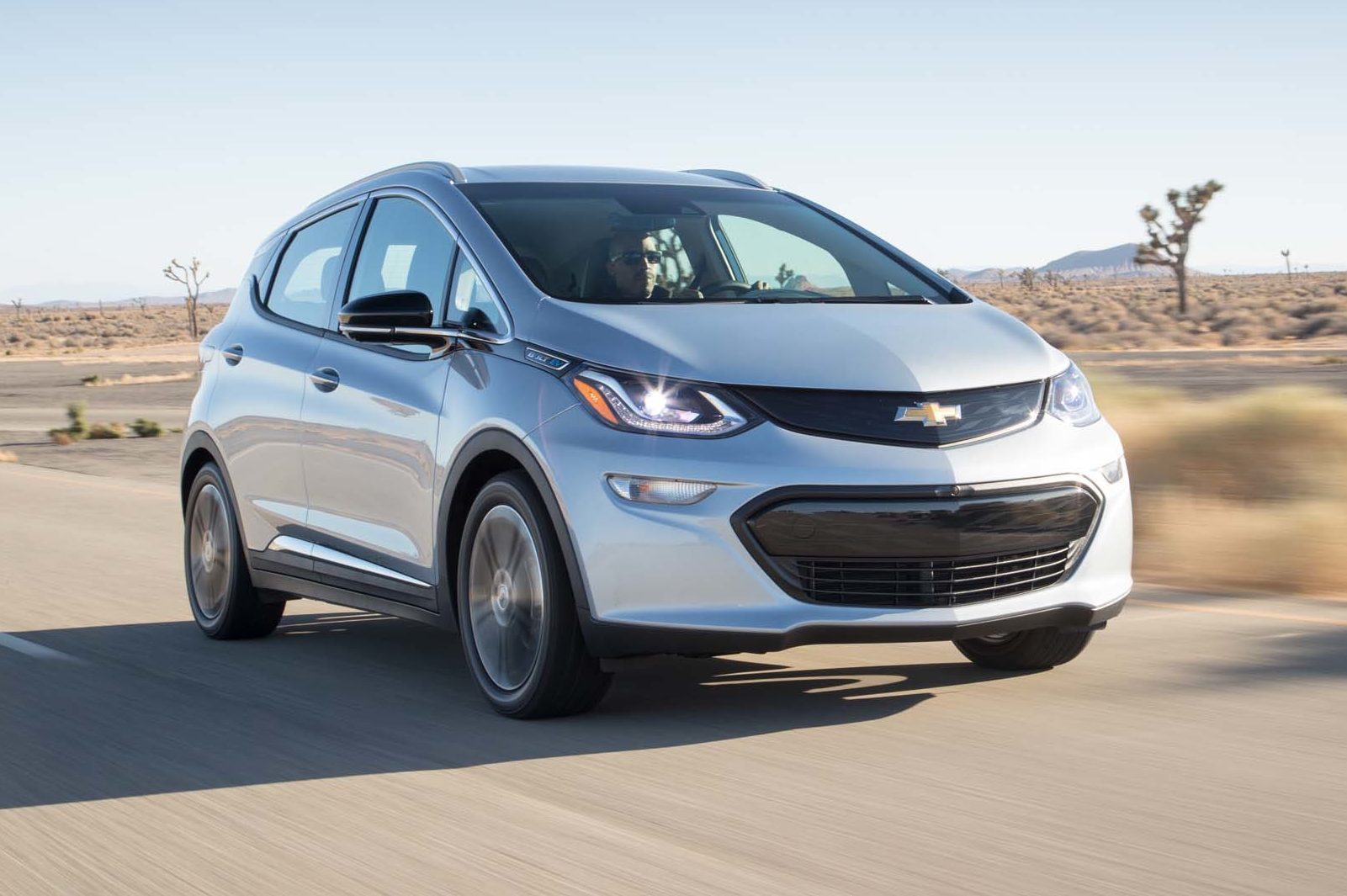 2017 Chevrolet Bolt EV Front Three Quarter In Motion E1477945416849 52