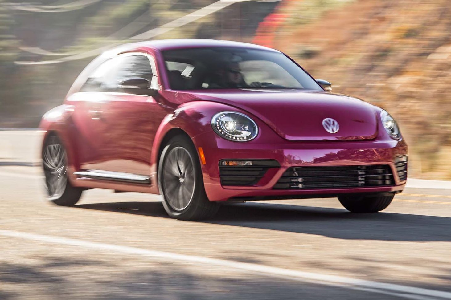 2017 Volkswagen PinkBeetle Front Three Quarter In Motion 04 E1481134557121 1