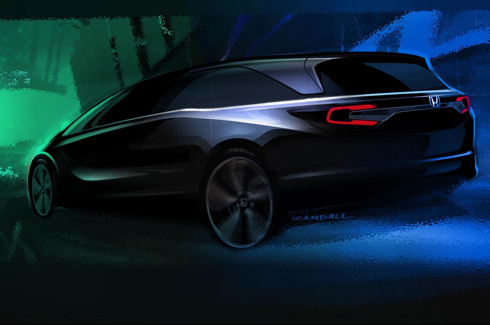 2018 Honda Odyssey Teaser Sketch