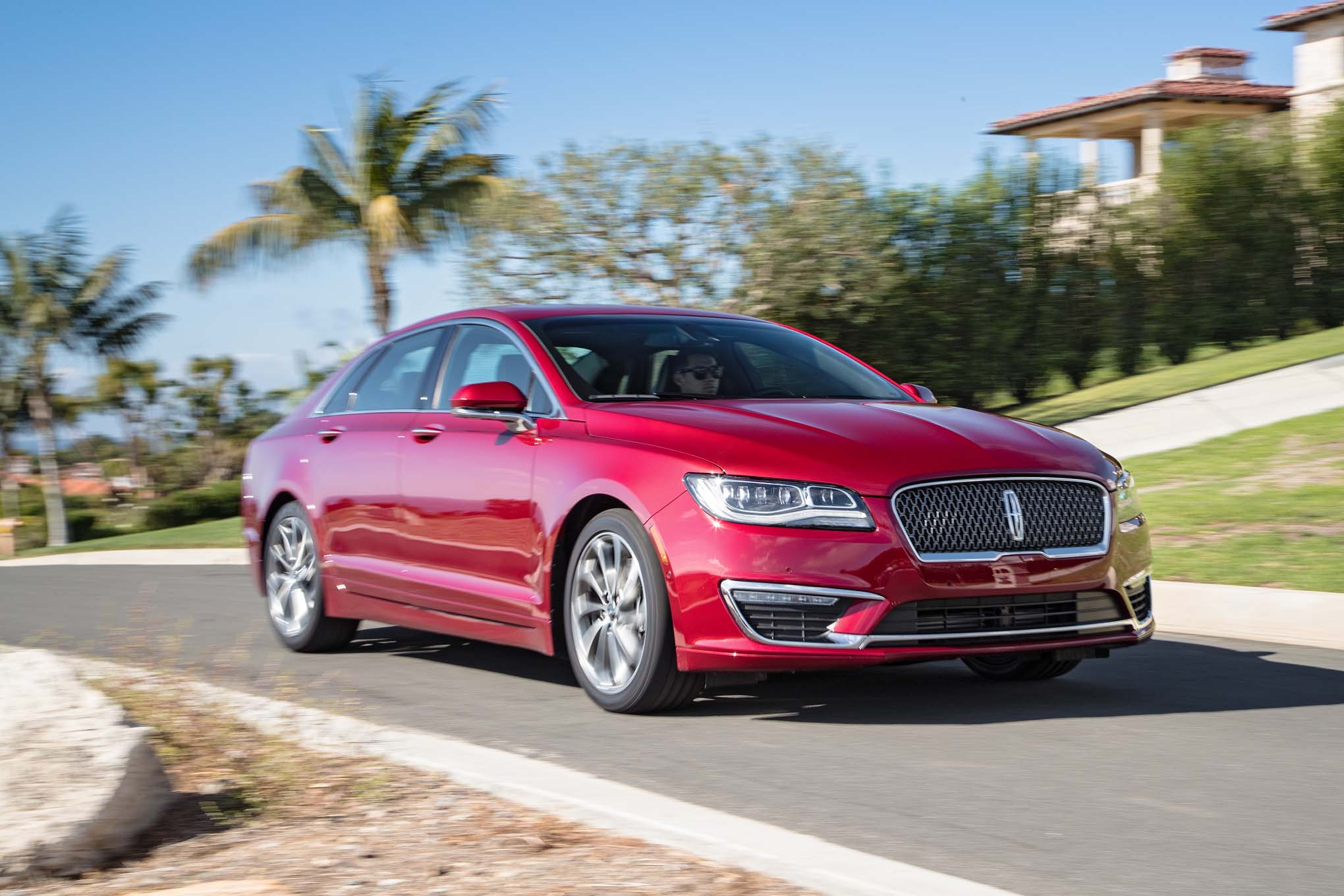 2017 Lincoln MKZ 30T AWD Front Three Quarter In Motion