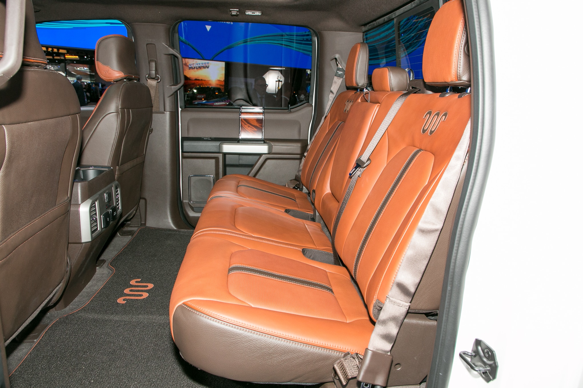 2018 Ford F 150 King Ranch rear interior seats - Motor ...