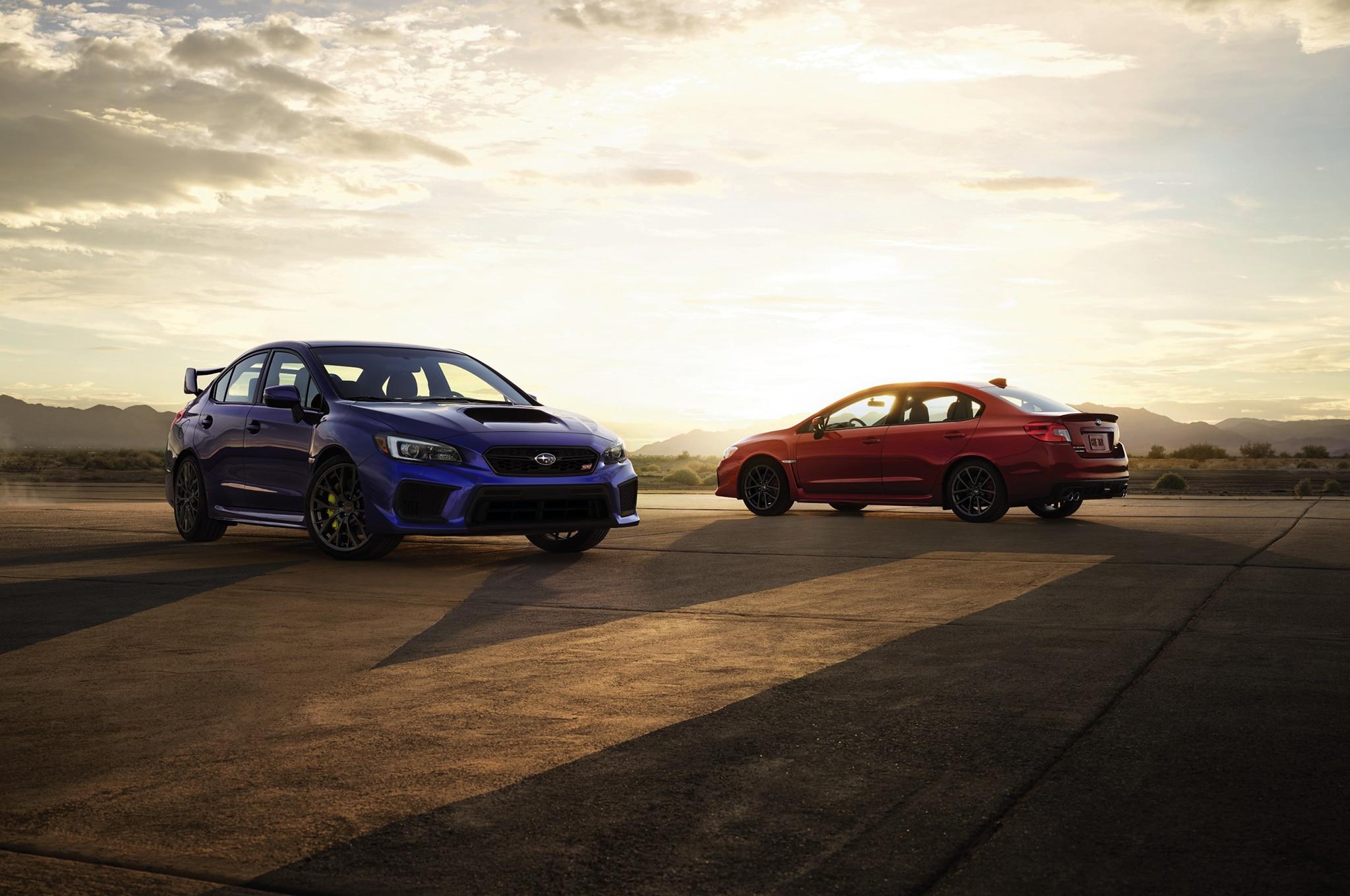 2018 Subaru WRX And Subaru WRX STI Together