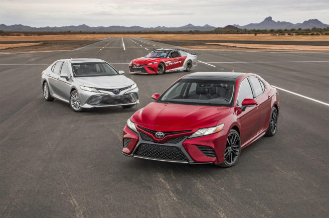 2018 Toyota Camry XSE Camry Hybrid and Camry NASCAR