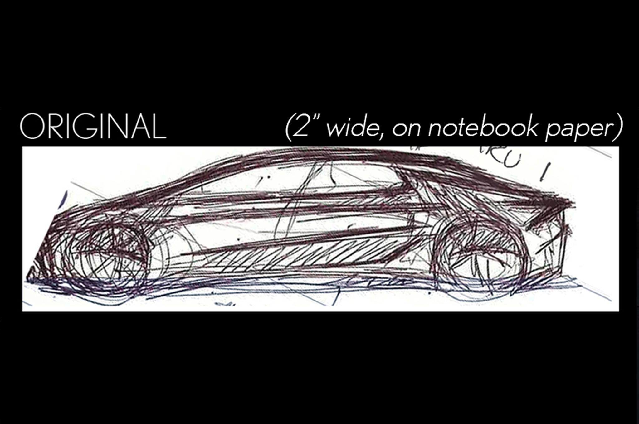 2018 Toyota Camry original sketch