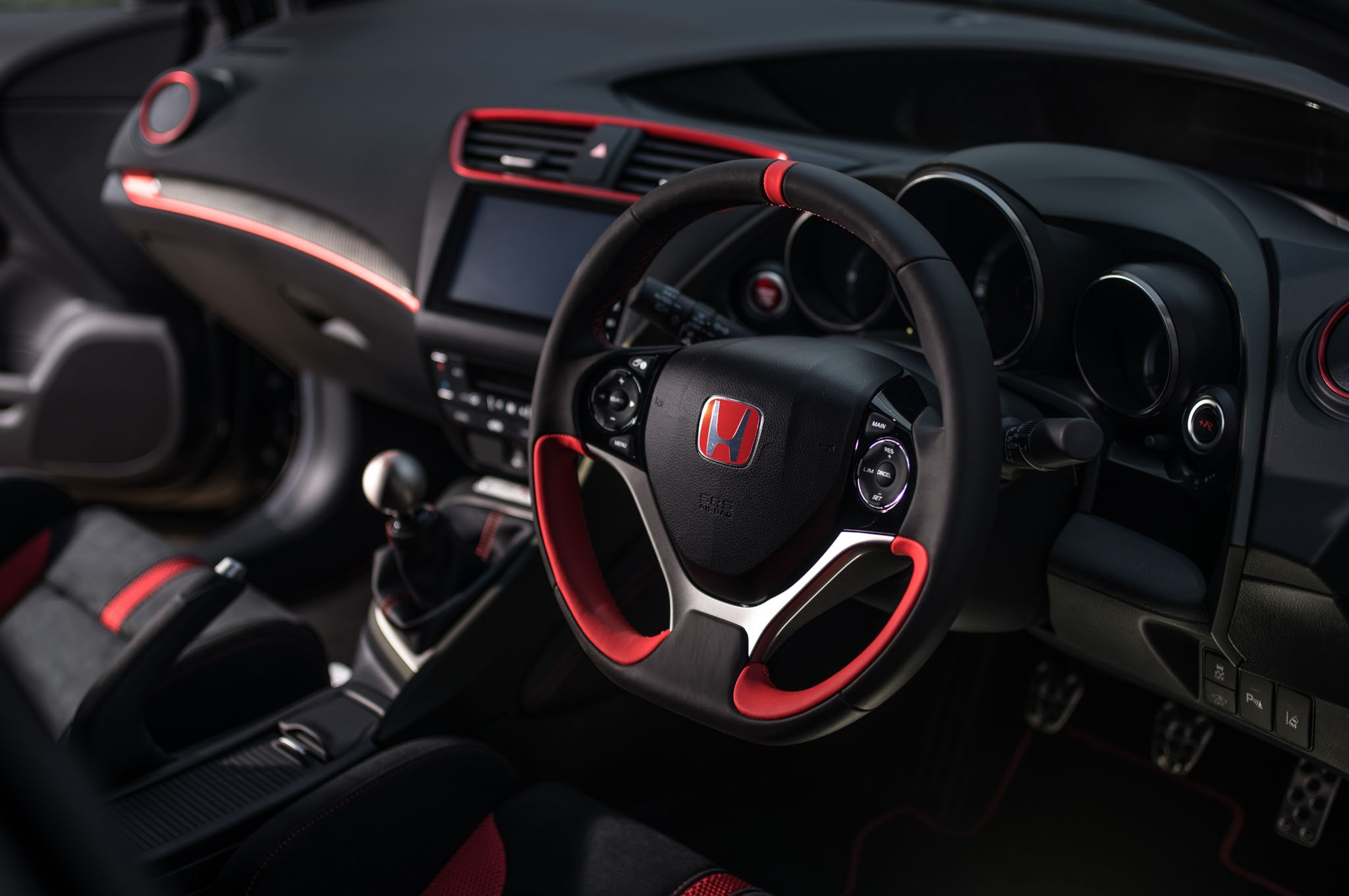 Honda Civic Type R Black Edition Steering Wheel