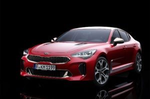 Kia Stinger GT Front Three Quarter 300x199
