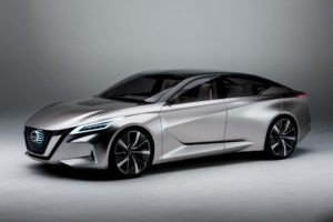 Nissan V Motion 20 Sedan Concept Front Side 300x200