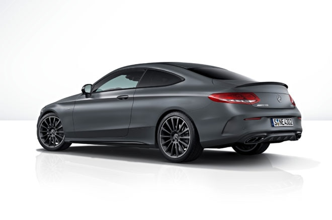 2018 Mercedes AMG C43 Coupe with AMG Performance Studio Package rear three quarter