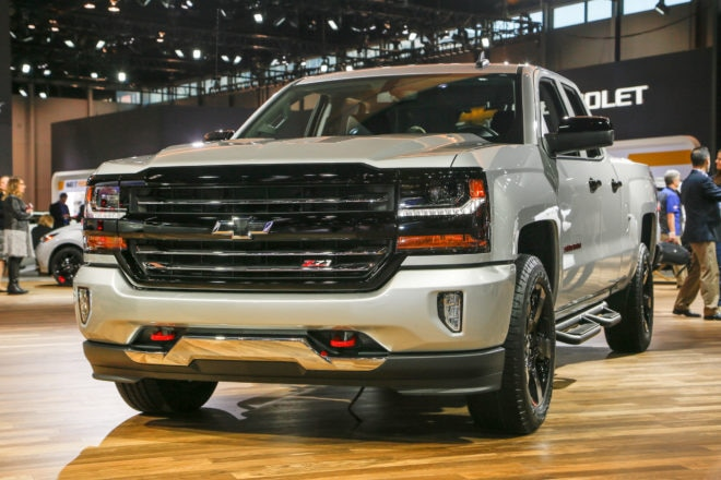 Chevrolet Silverado Redline front three quarter 1
