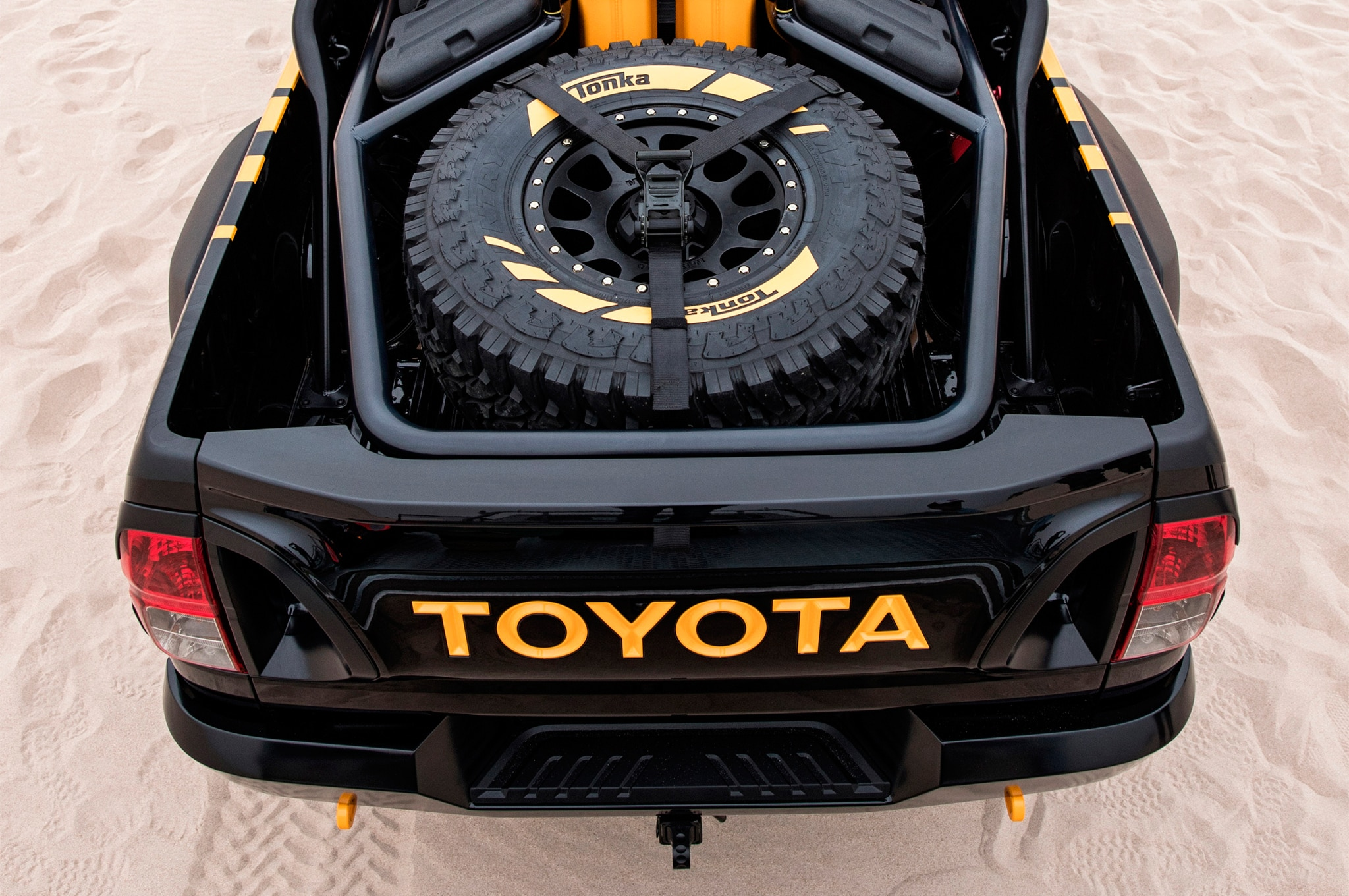2017 toyota hilux tonka concept spare tire motor trend. Black Bedroom Furniture Sets. Home Design Ideas