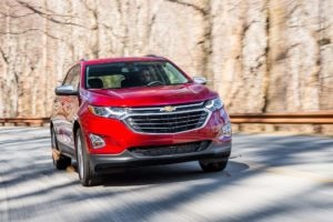 2018 Chevrolet Equinox Front Three Quarter In Motion 22 300x200