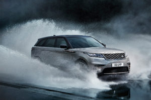 2018 Land Rover Range Rover Velar Front Three Quarter In Water 300x199