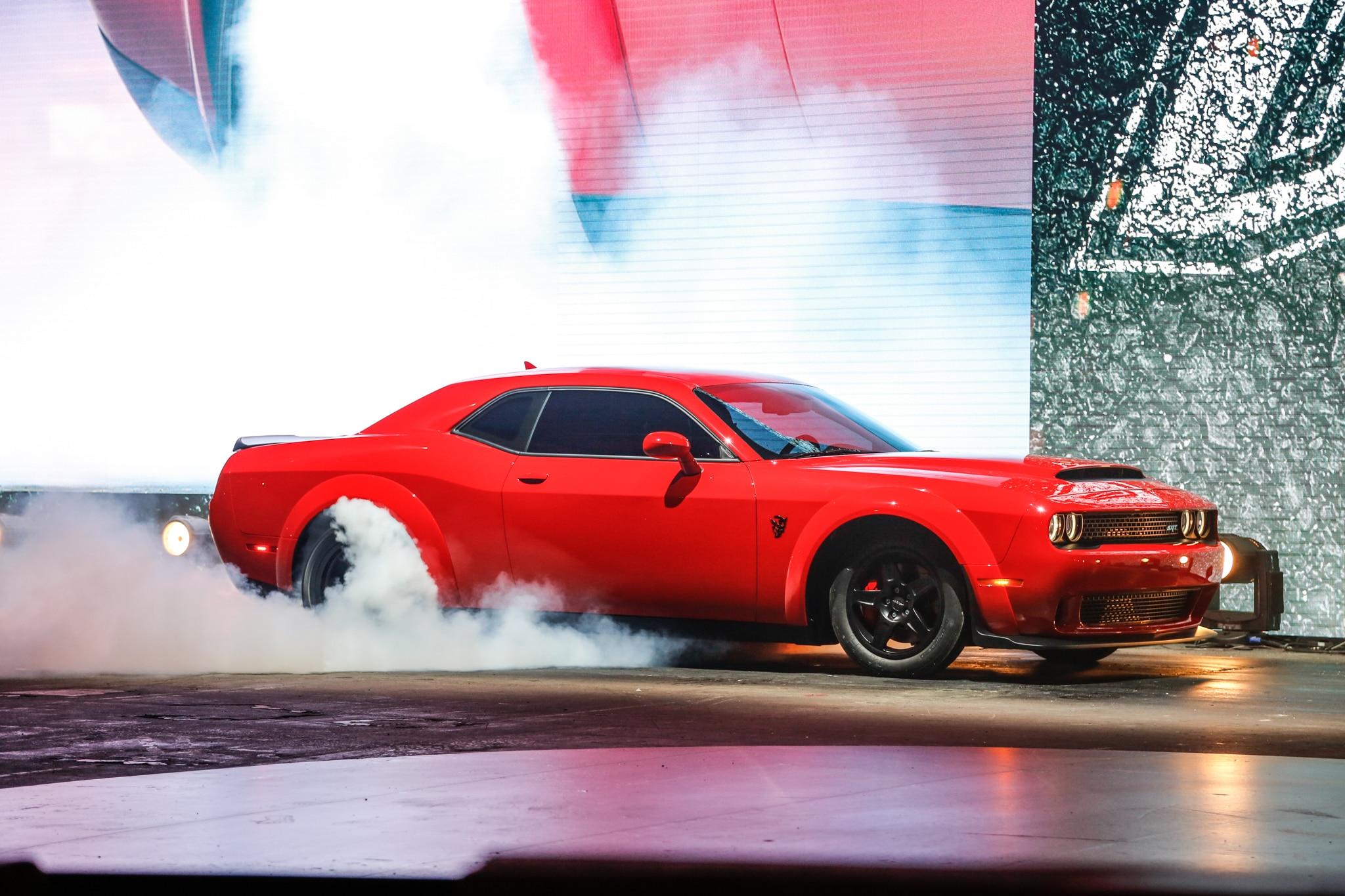 2018 Dodge Challenger SRT Demon burnout