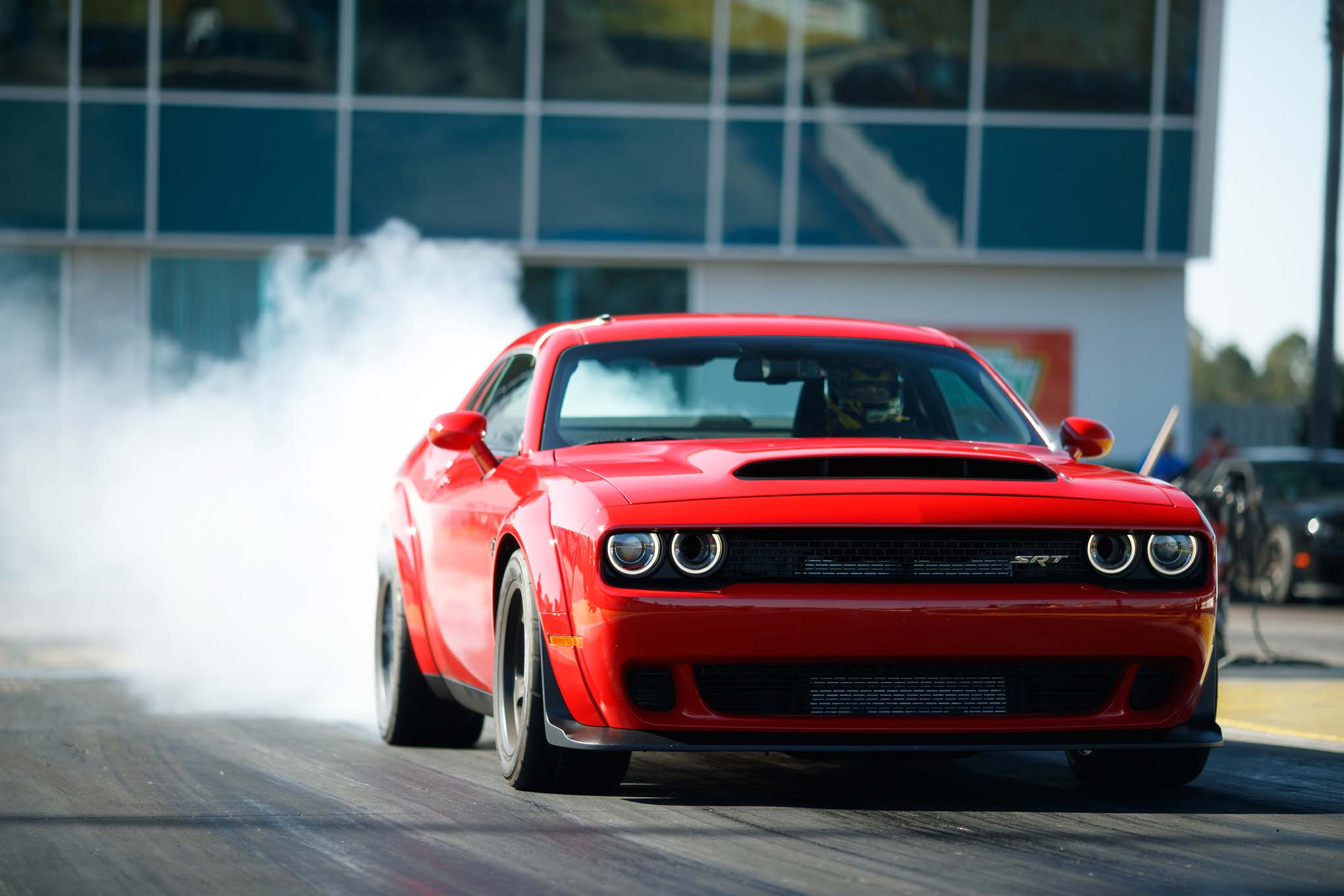 2018 Dodge Challenger SRT Demon Front Three Quarter In Motion 07
