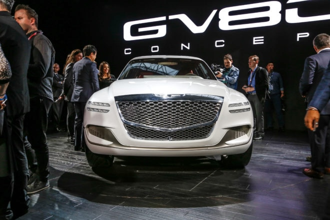 Genesis GV80 Fuel Cell Concept SUV front end 1
