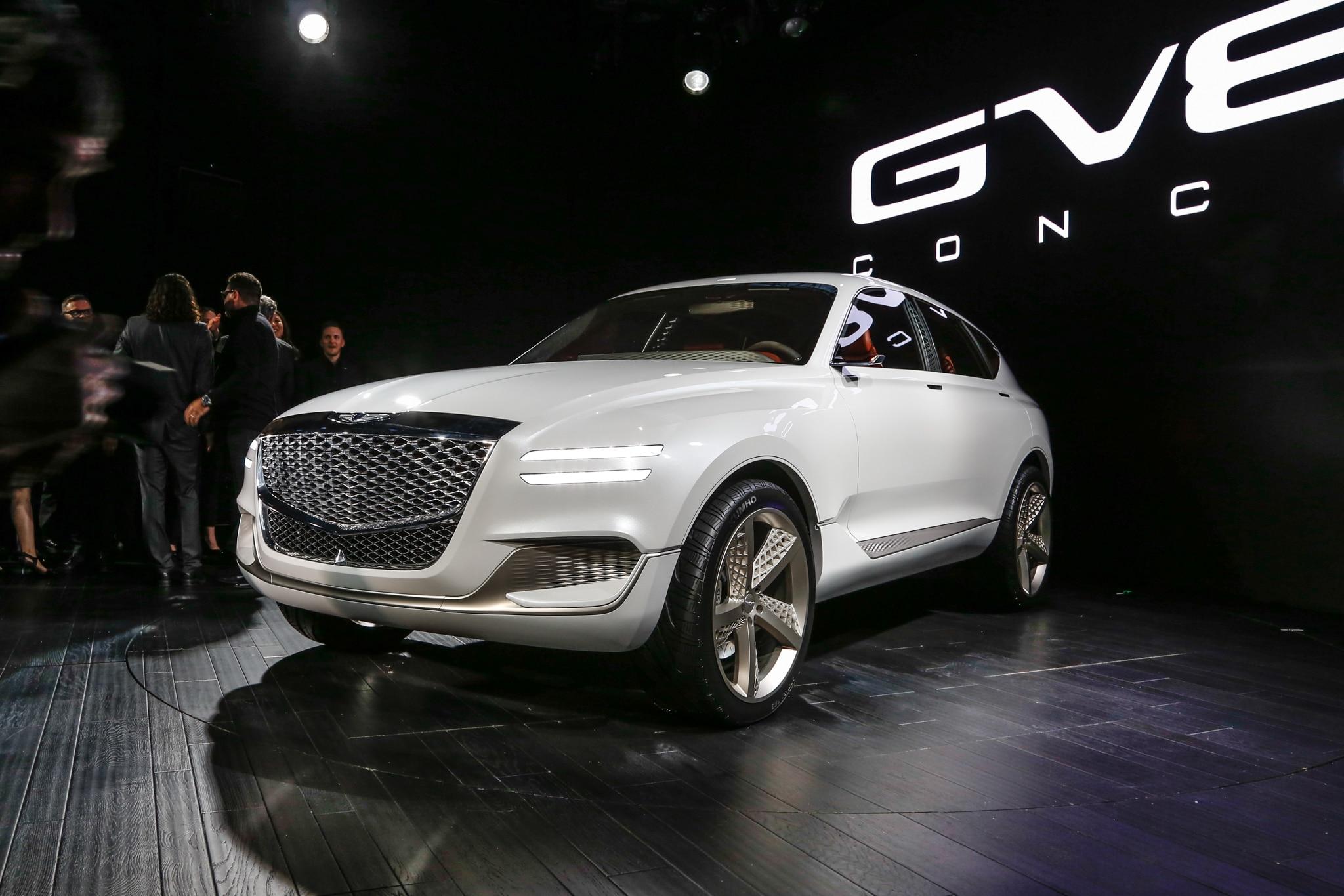 Genesis GV80 Fuel Cell Concept SUV Front Three Quarter 1
