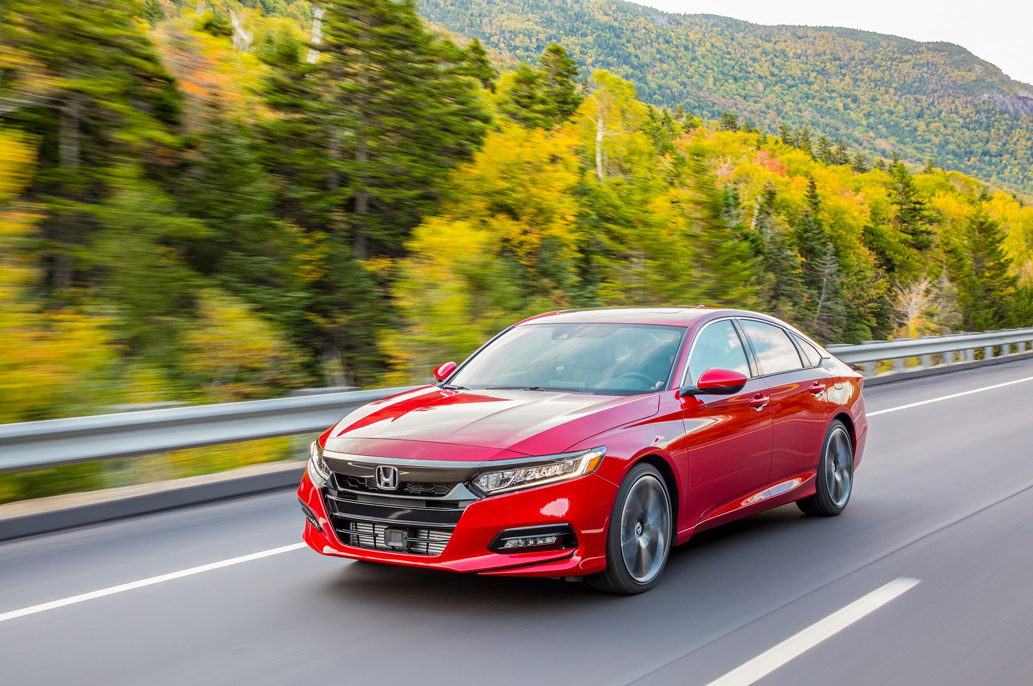 2018 Honda Accord Sport 2 0T Front Three Quarter In Motion 13
