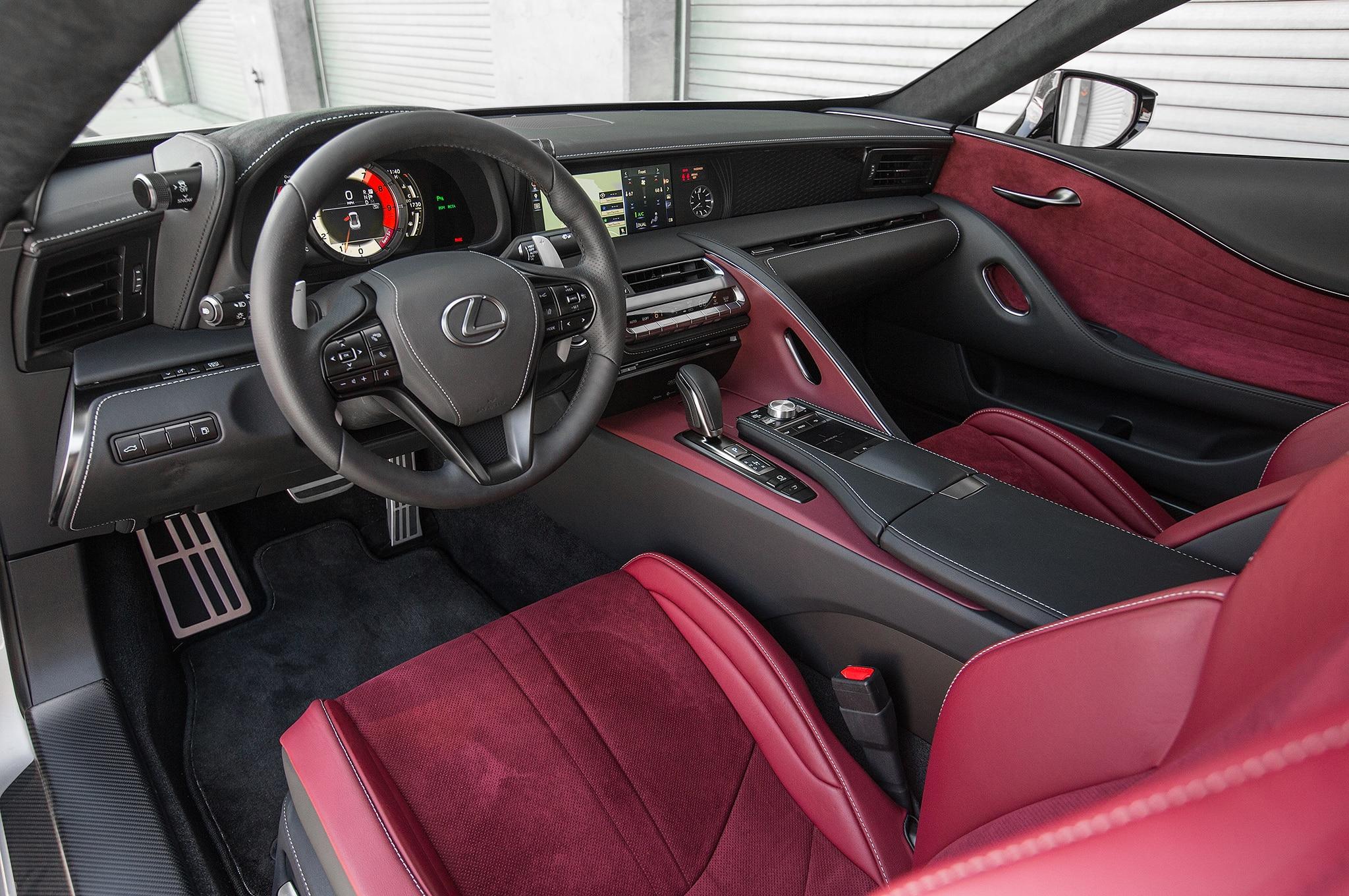 lexus lc  interior detail motor trend en espanol