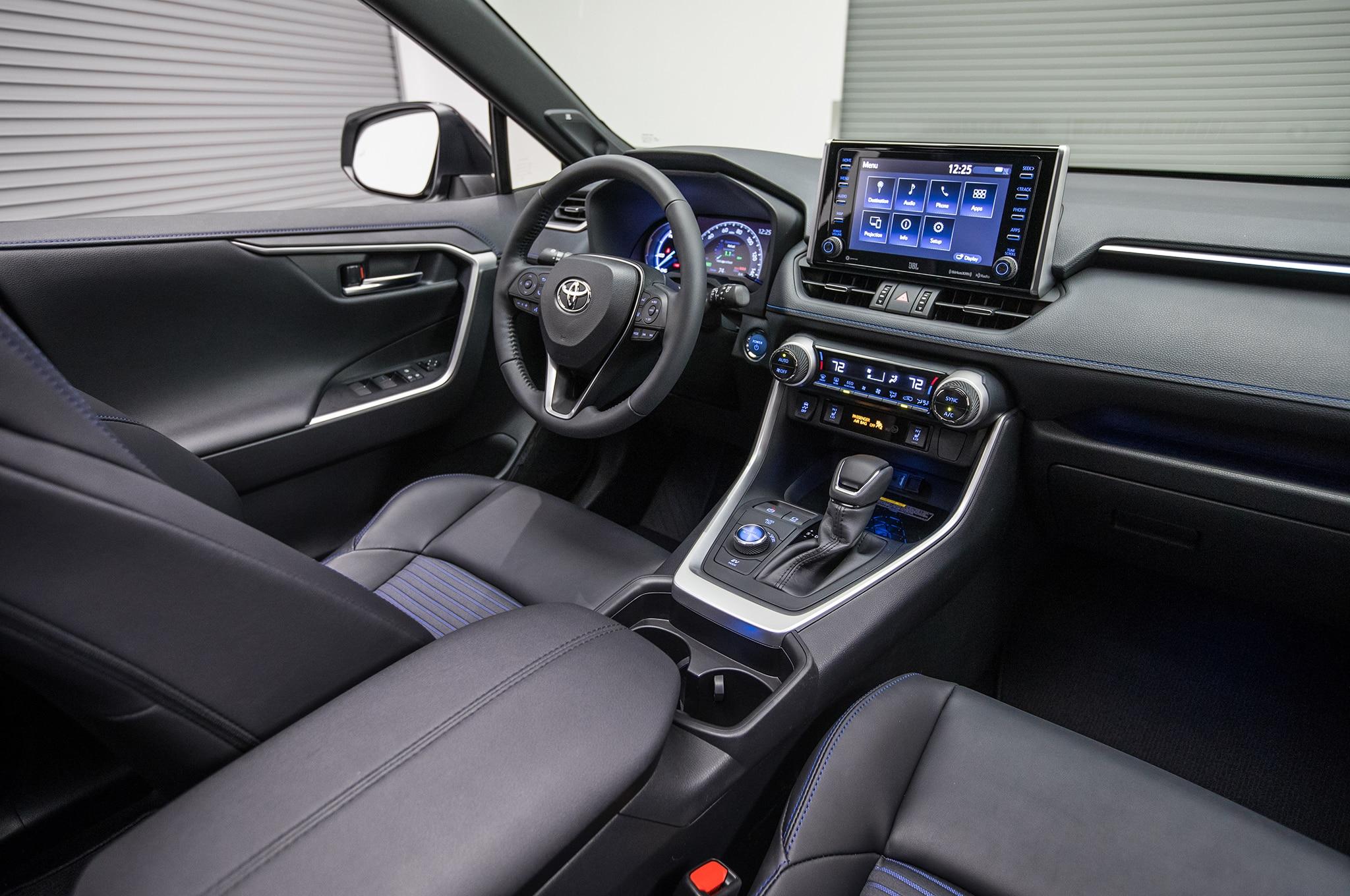 2019 Toyota Rav4 Hybrid Front Interior 1 Motor Trend En