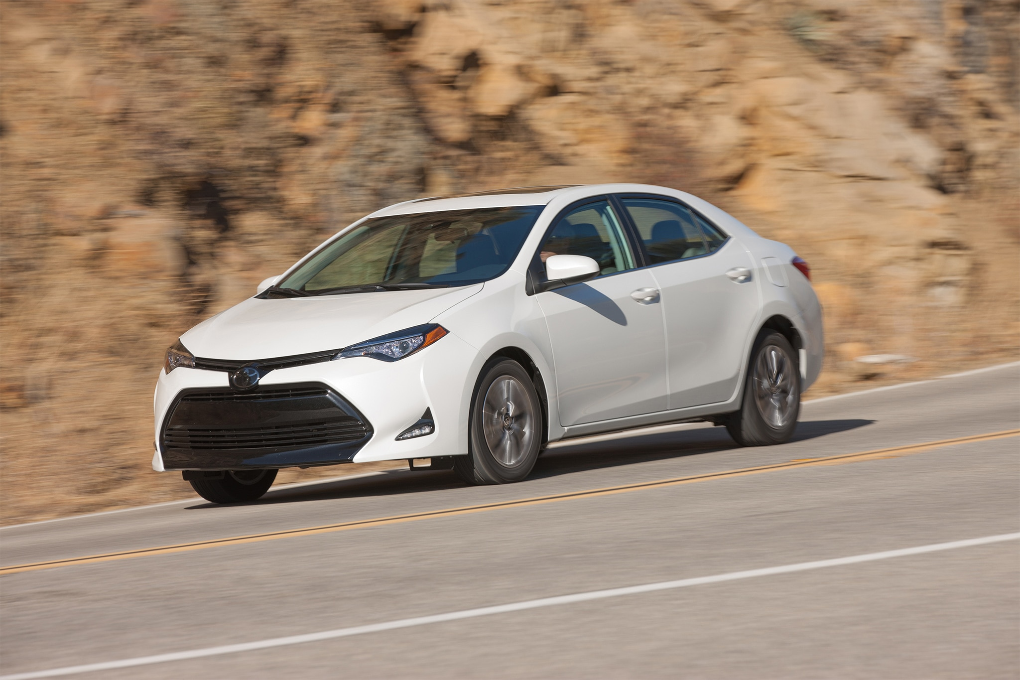 2017 Toyota Corolla ECO Front Three Quarter In Motion 02