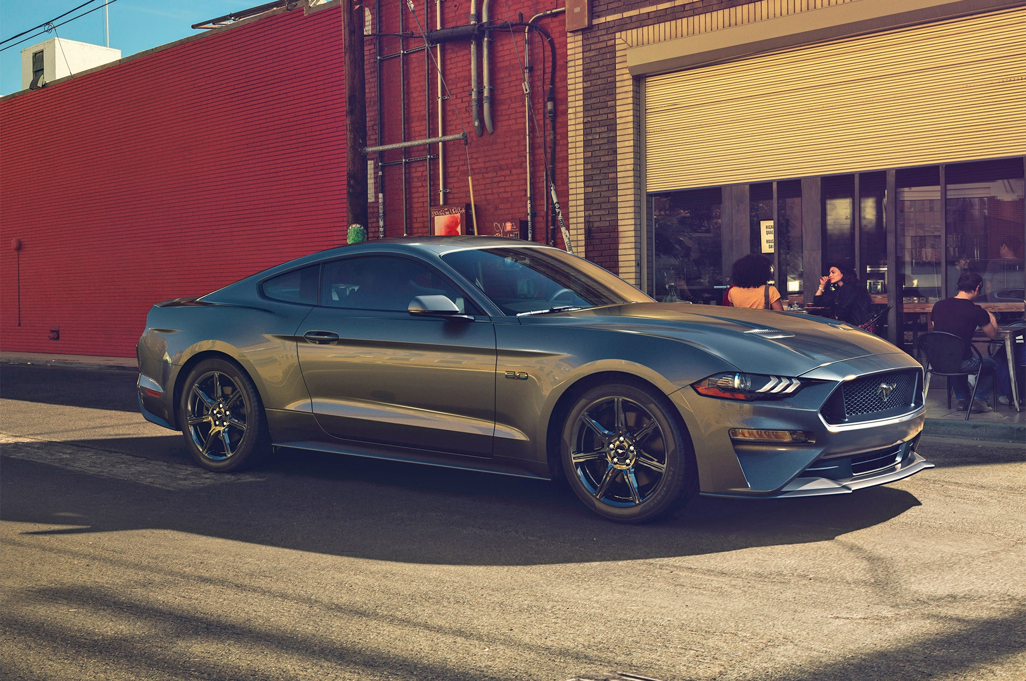 2018 Ford Mustang V8 GT With Performance Pack Front Three Quarters