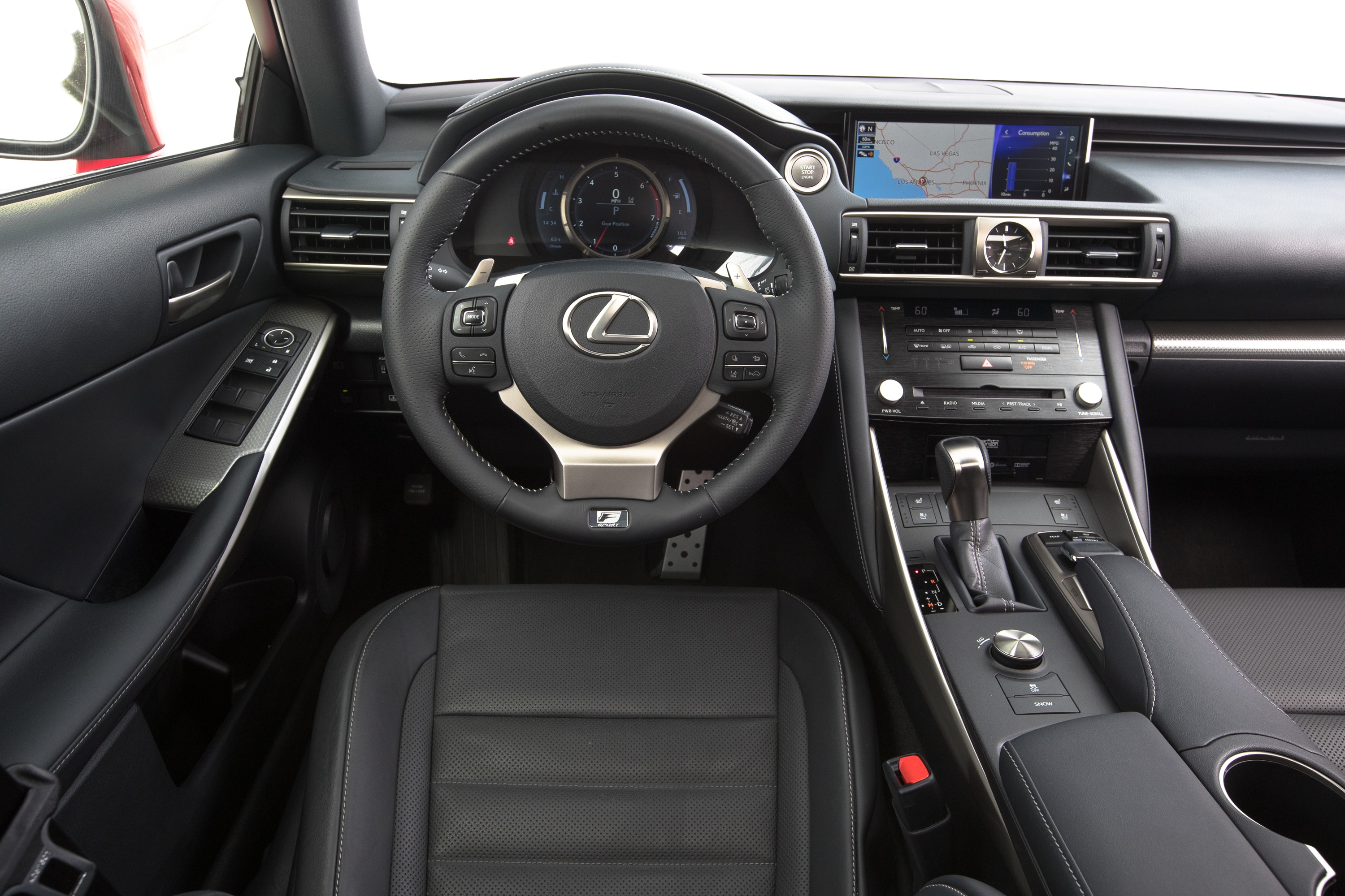 2017 Lexus IS 200t cockpit