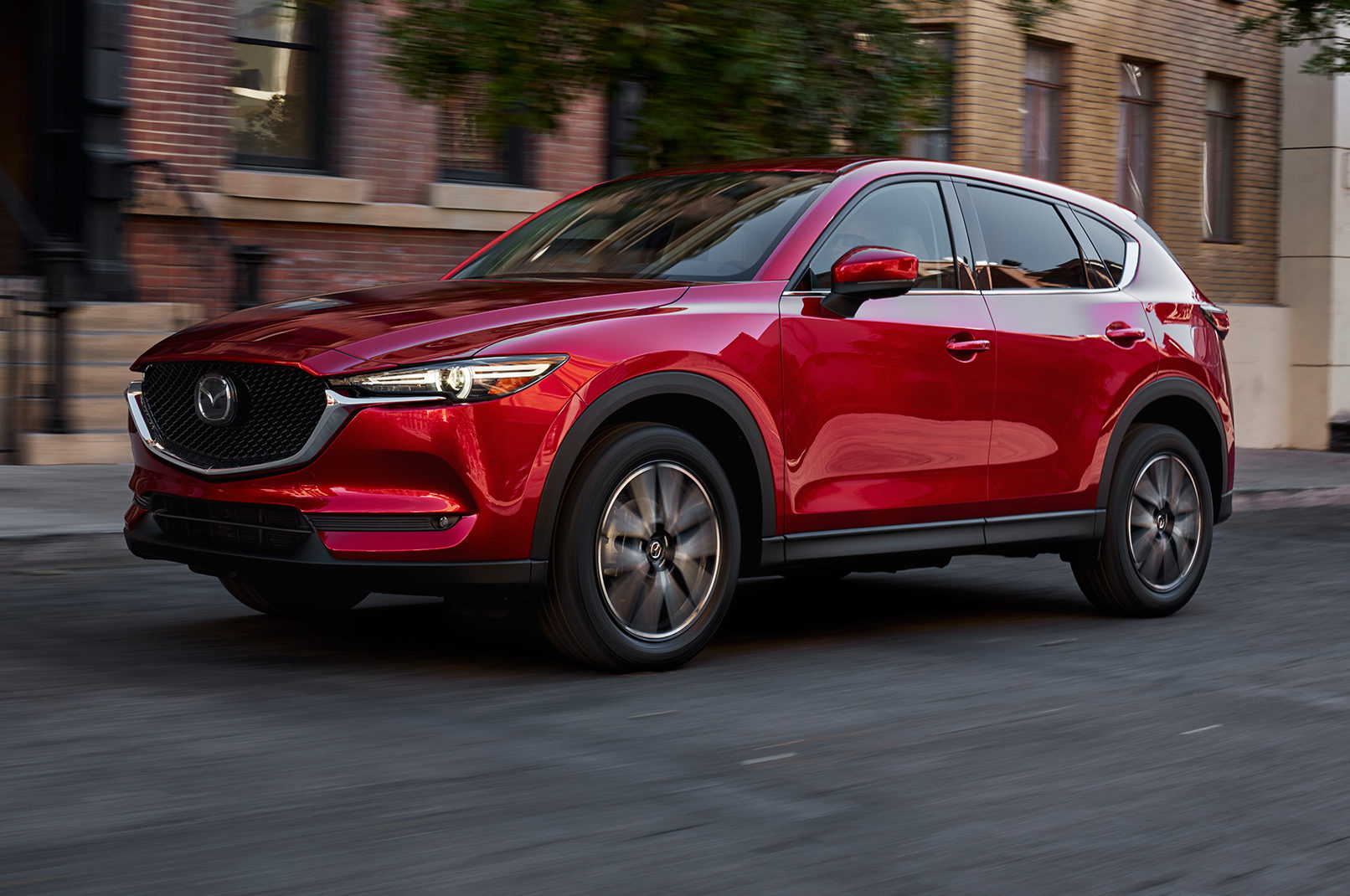 2017 Mazda CX 5 Front Three Quarter In Motion 1 E1489186309647
