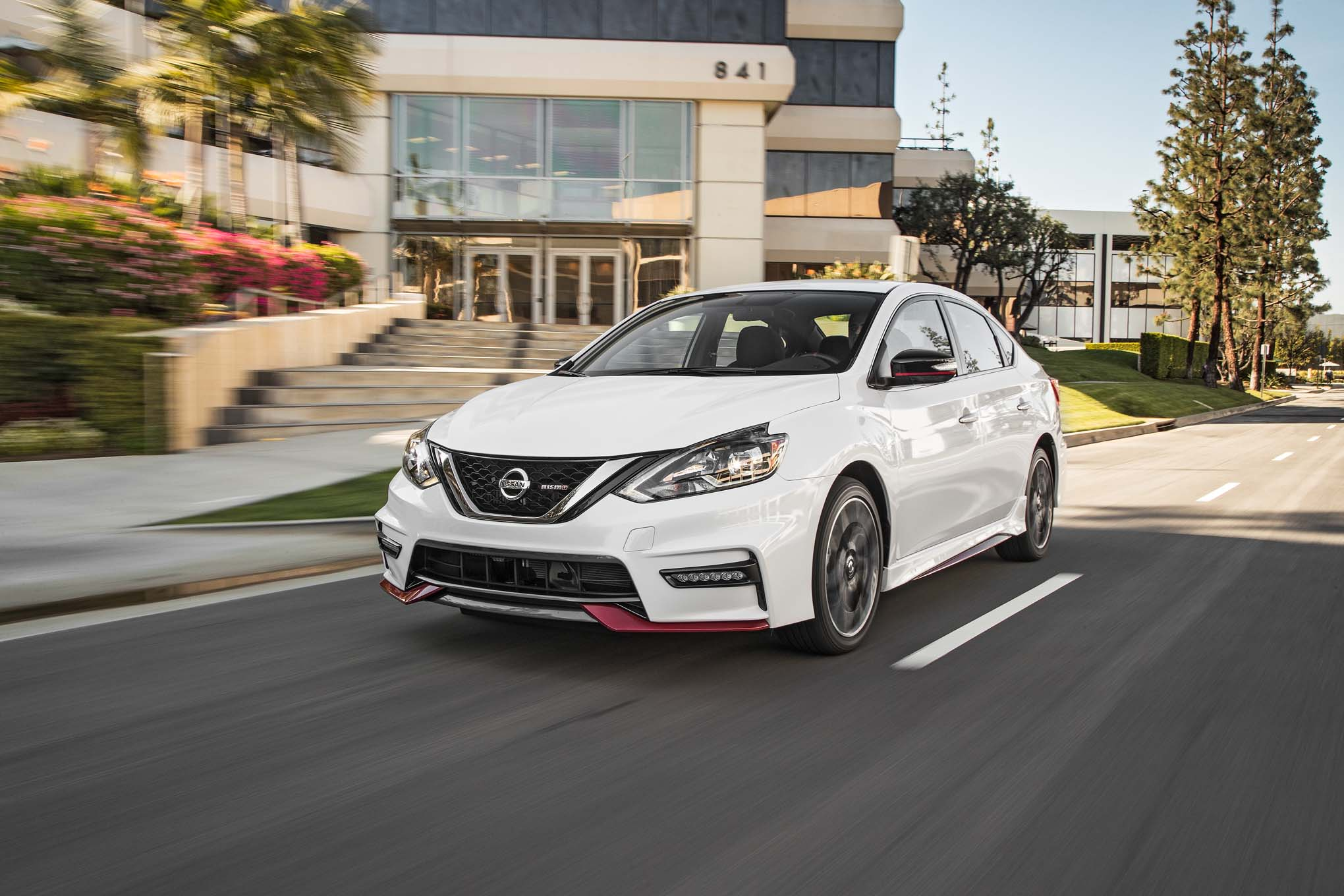 2017 Nissan Sentra NISMO Front Three Quarter In Motion