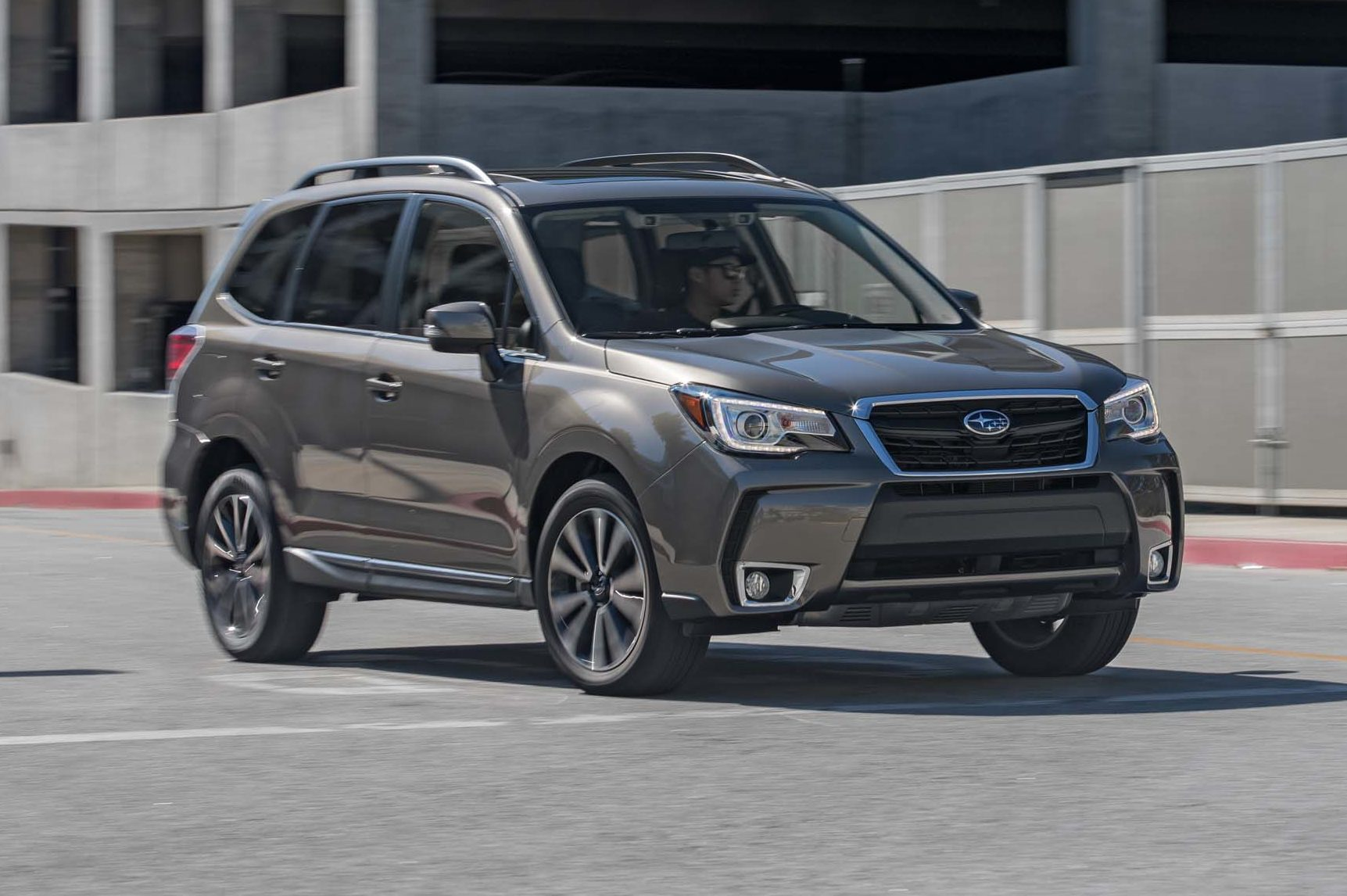 2017 Subaru Forester 20XT Touring Front Three Quarter In Motion 02 E1489512737447